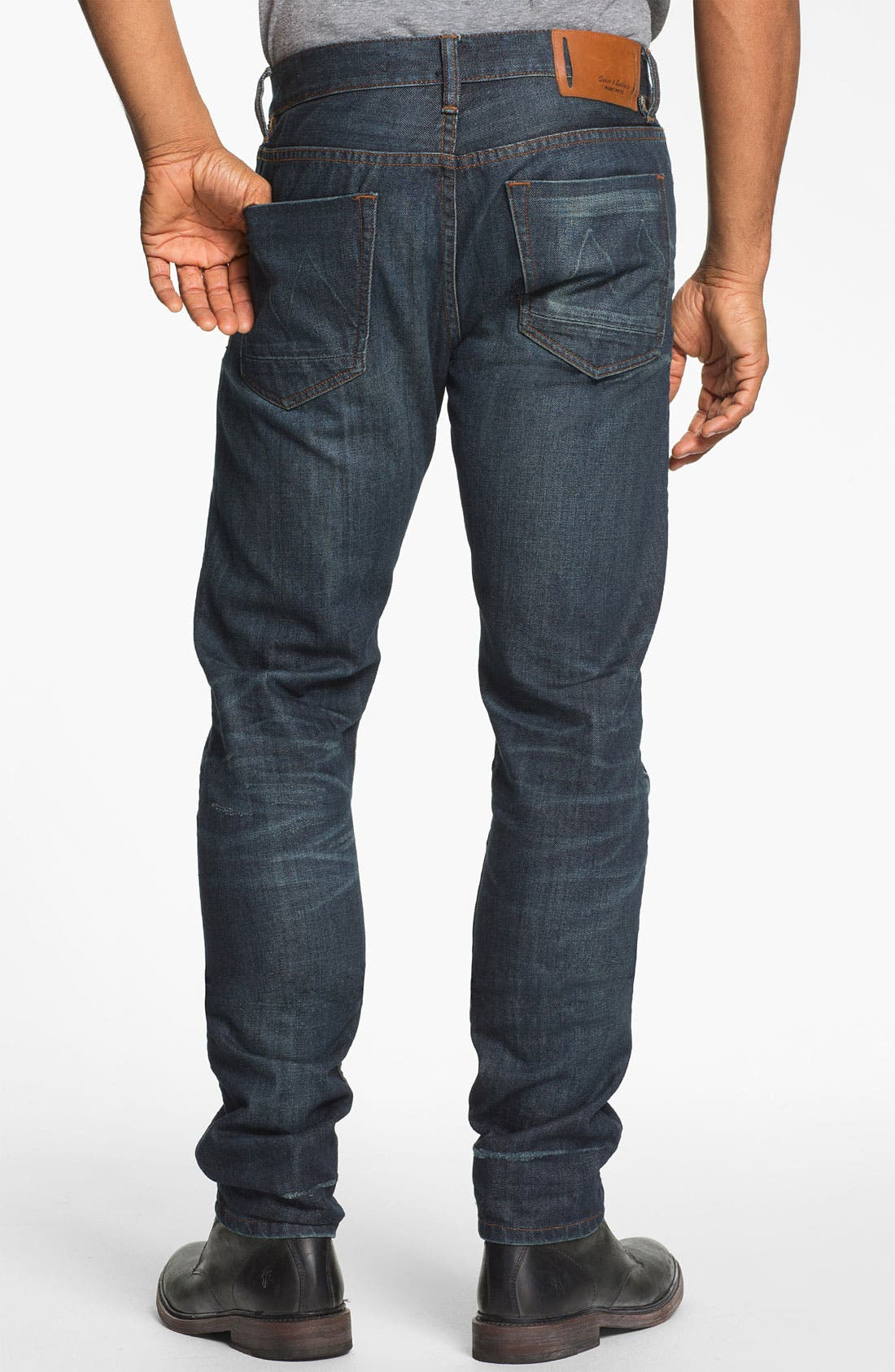 Alternate Image 1 Selected - Denim & Leathers by Andrew Marc Slim Leg Jeans (1-Year Indigo)