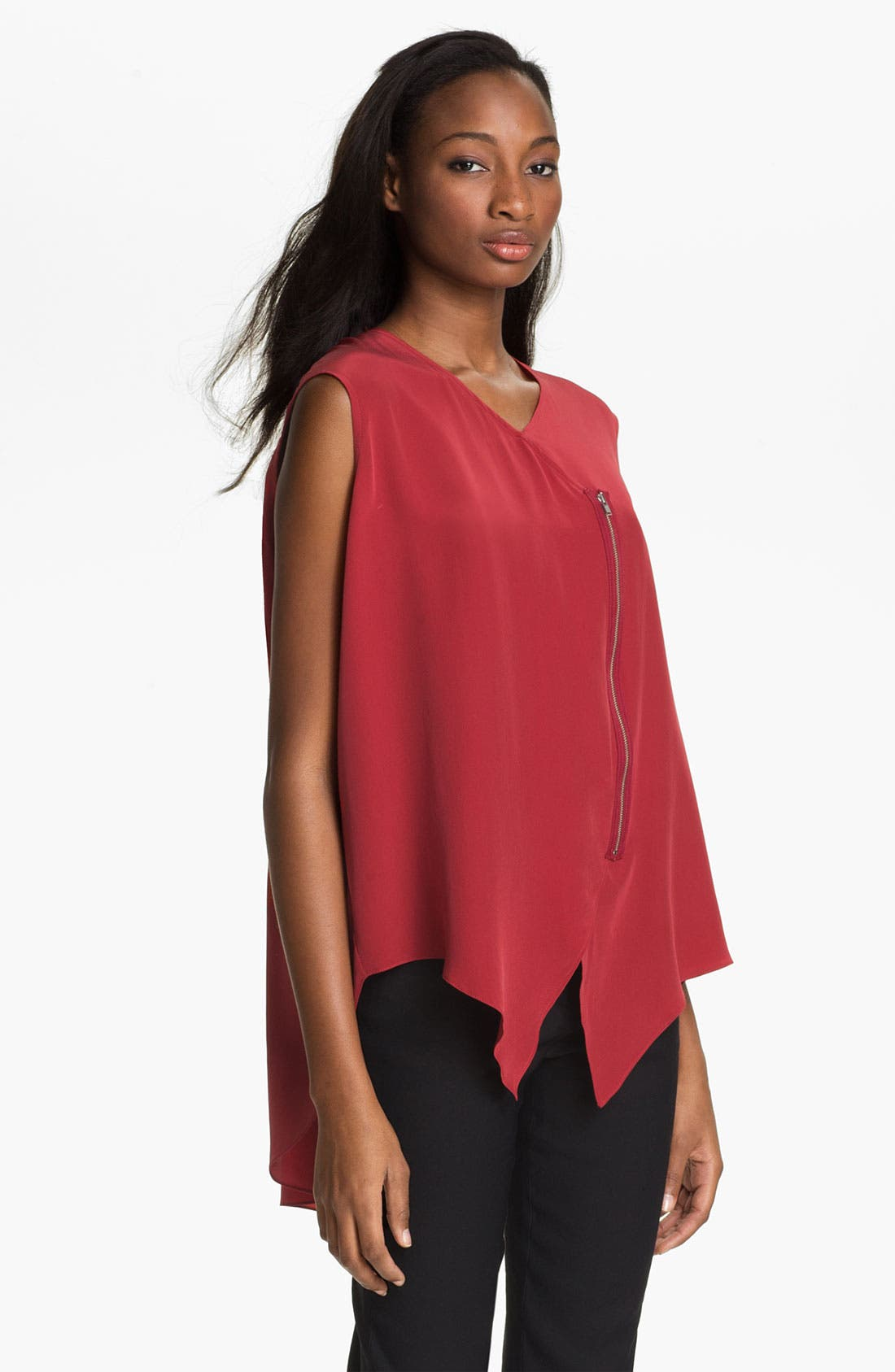 Alternate Image 3  - Tracy Reese Zip Front Silk Blouse