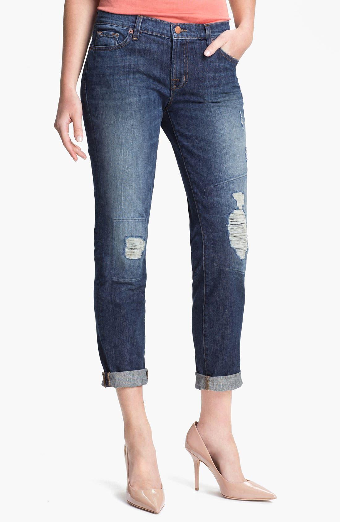 Alternate Image 1 Selected - J Brand 'Midori' Destroyed Boyfriend Jeans (Big Time)