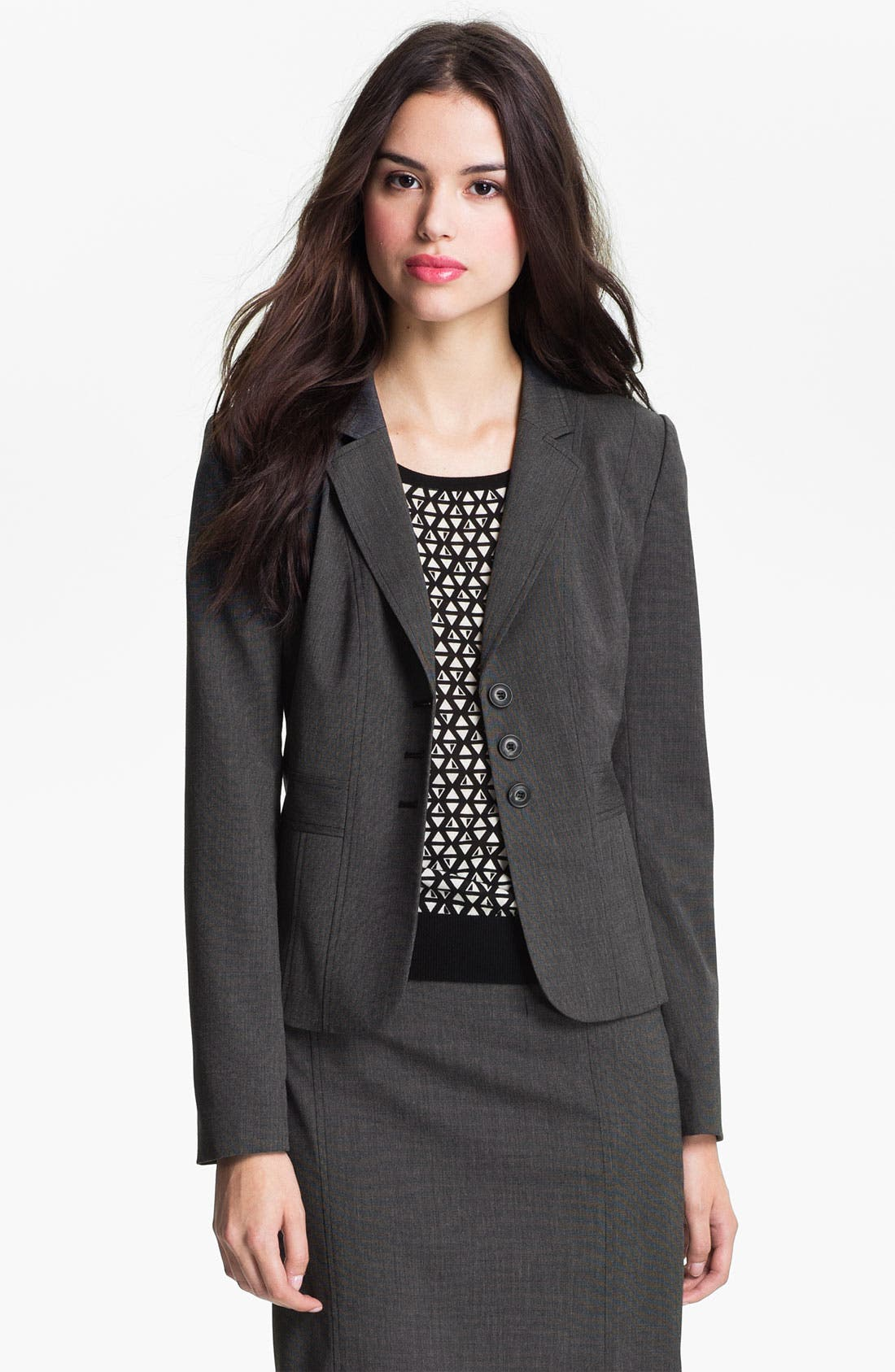 Alternate Image 1 Selected - Halogen® 'End on End' Suit Jacket (Petite)