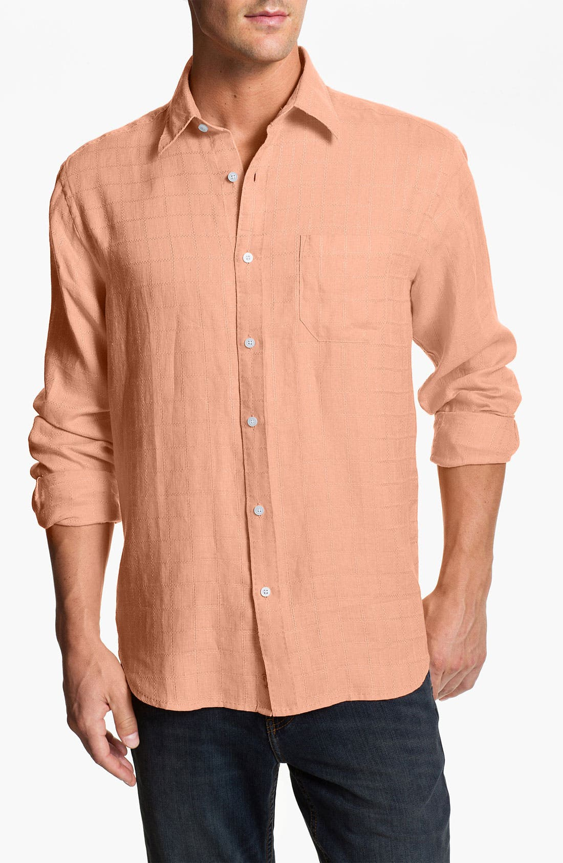 Alternate Image 1 Selected - Tommy Bahama 'Costa Sera' Linen Sport Shirt (Big & Tall)