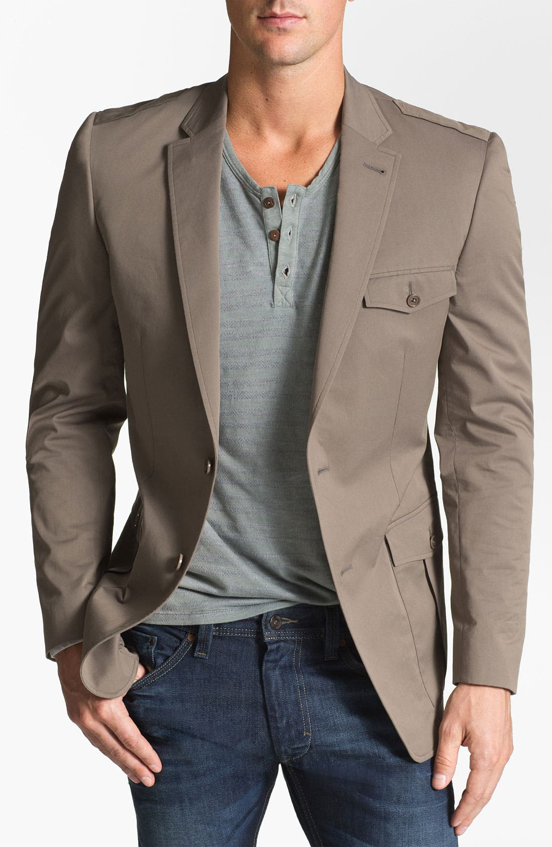 Main Image - John Varvatos Star USA 'Young Safari' Trim Fit Jacket