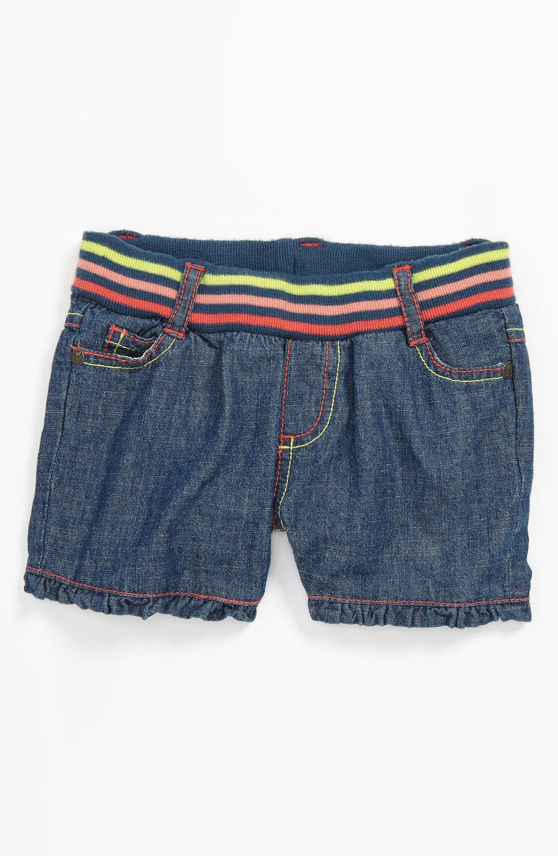 Alternate Image 2  - Pumpkin Patch Denim Shorts (Toddler)
