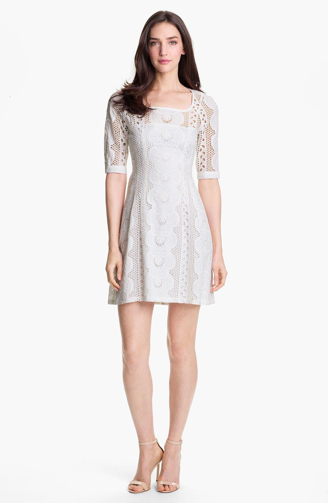 Alternate Image 1 Selected - Nanette Lepore 'Sandy Beach' Cotton A-Line Dress
