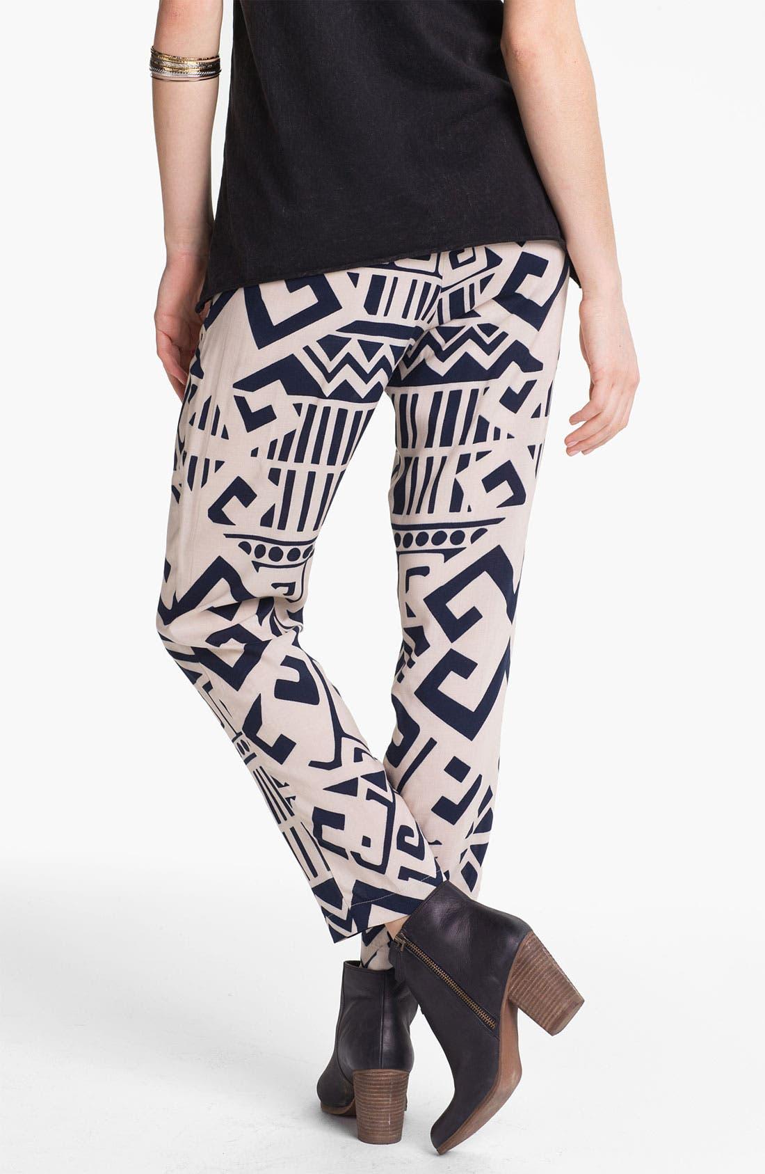 Alternate Image 2  - Mimi Chica Woven Pants (Juniors)