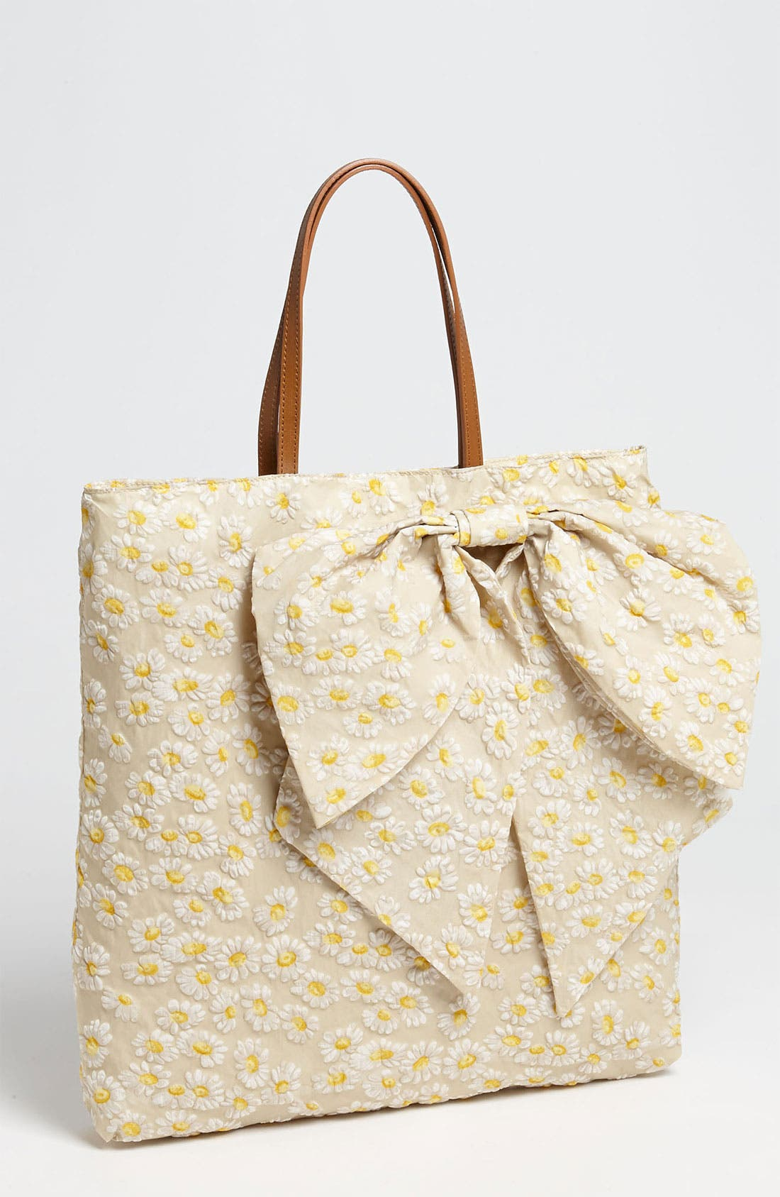 Alternate Image 1 Selected - RED Valentino 'Daisy Print' Bow Tote