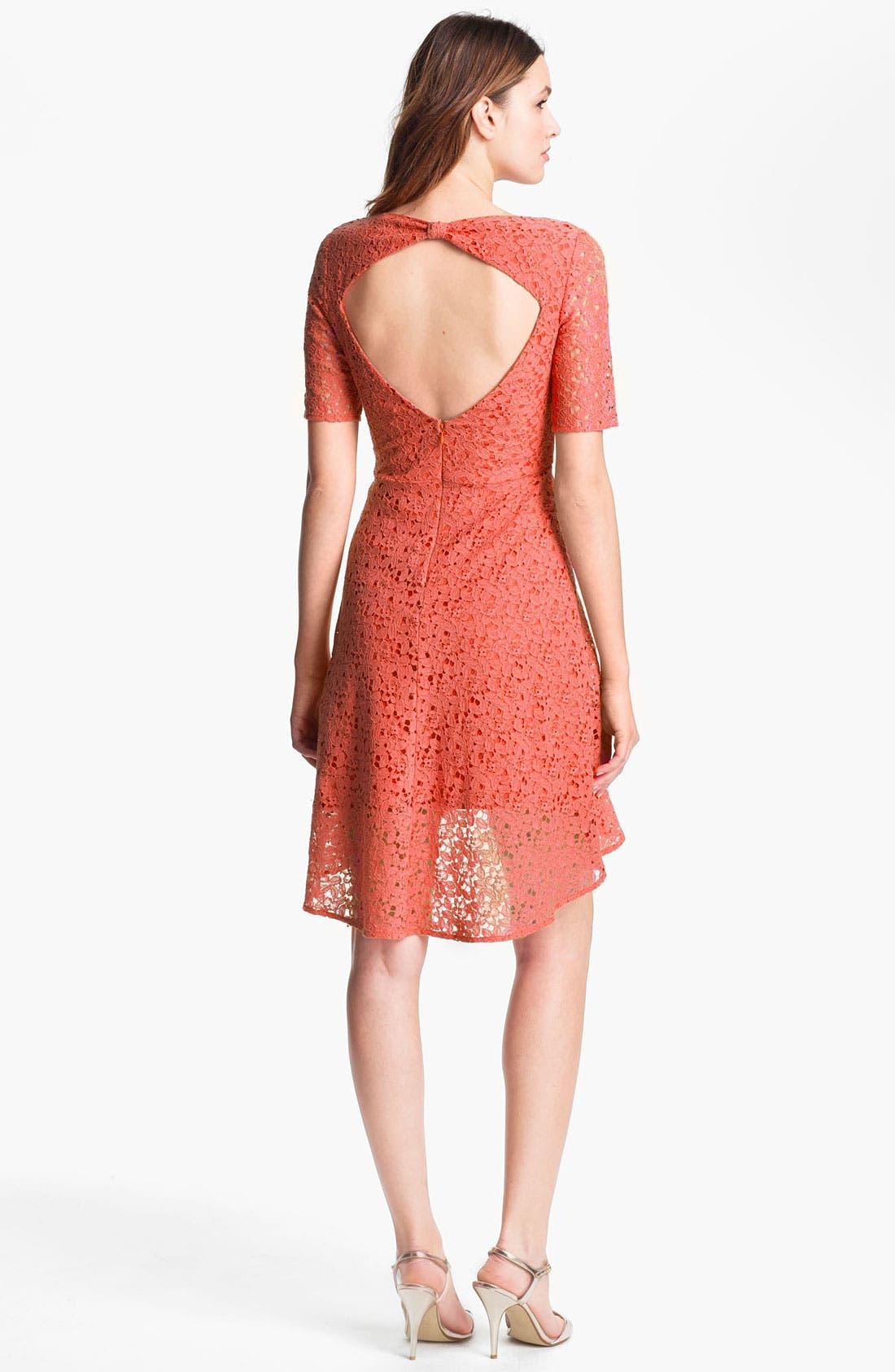 Alternate Image 2  - Betsey Johnson Lace Fit & Flare Dress