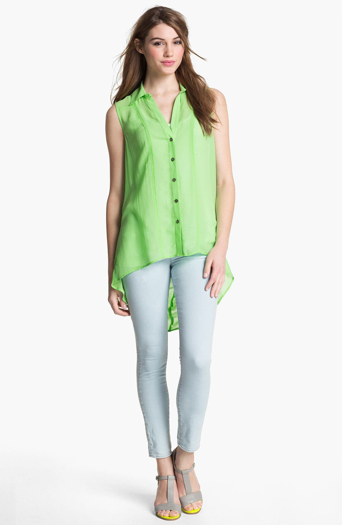 Alternate Image 7  - Two by Vince Camuto Skinny Jeans (Pale Blue)