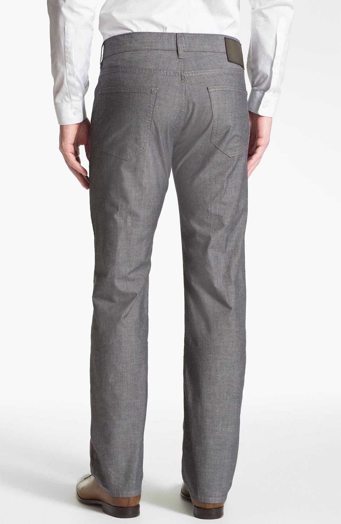 Alternate Image 2  - BOSS HUGO BOSS 'Kansas' Regular Fit Herringbone Pants