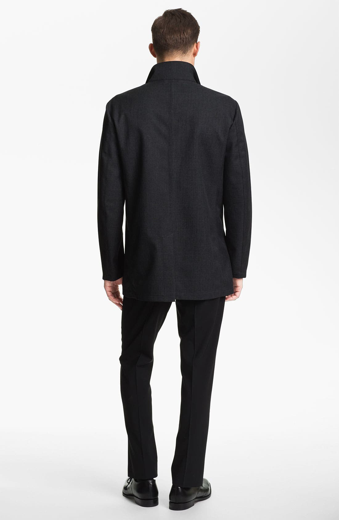 Alternate Image 5  - Armani Collezioni Microfiber Jacket