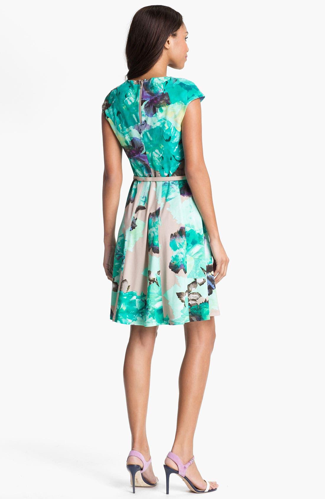 Alternate Image 2  - Alex & Ava Print Fit & Flare Dress