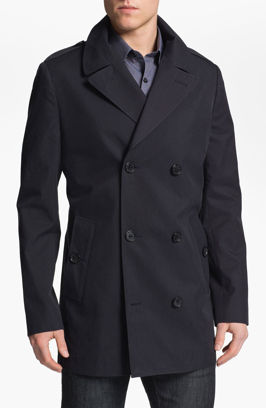 Alternate Image 1 Selected - Michael Kors Double Breasted Peacoat