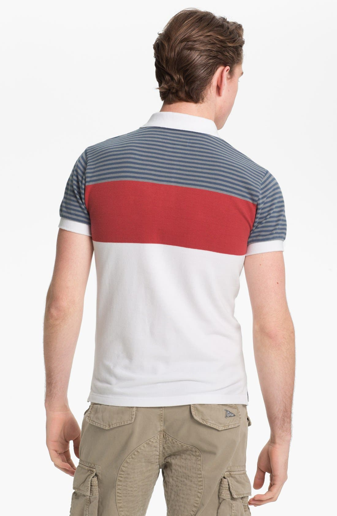 Alternate Image 2  - Gant by Michael Bastian Chest Stripe Piqué Polo