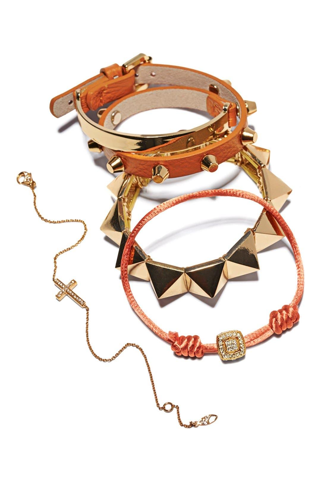 Alternate Image 4  - Cara Leather Wrap Bracelet