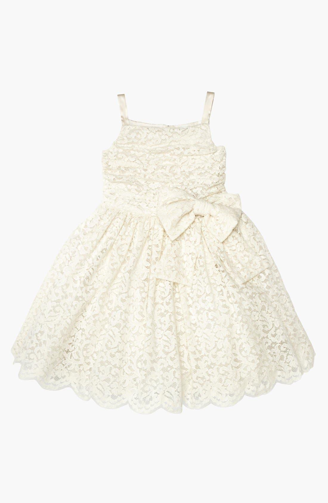 Main Image - Dolce&Gabbana Lace Party Dress (Little Girls & Big Girls)