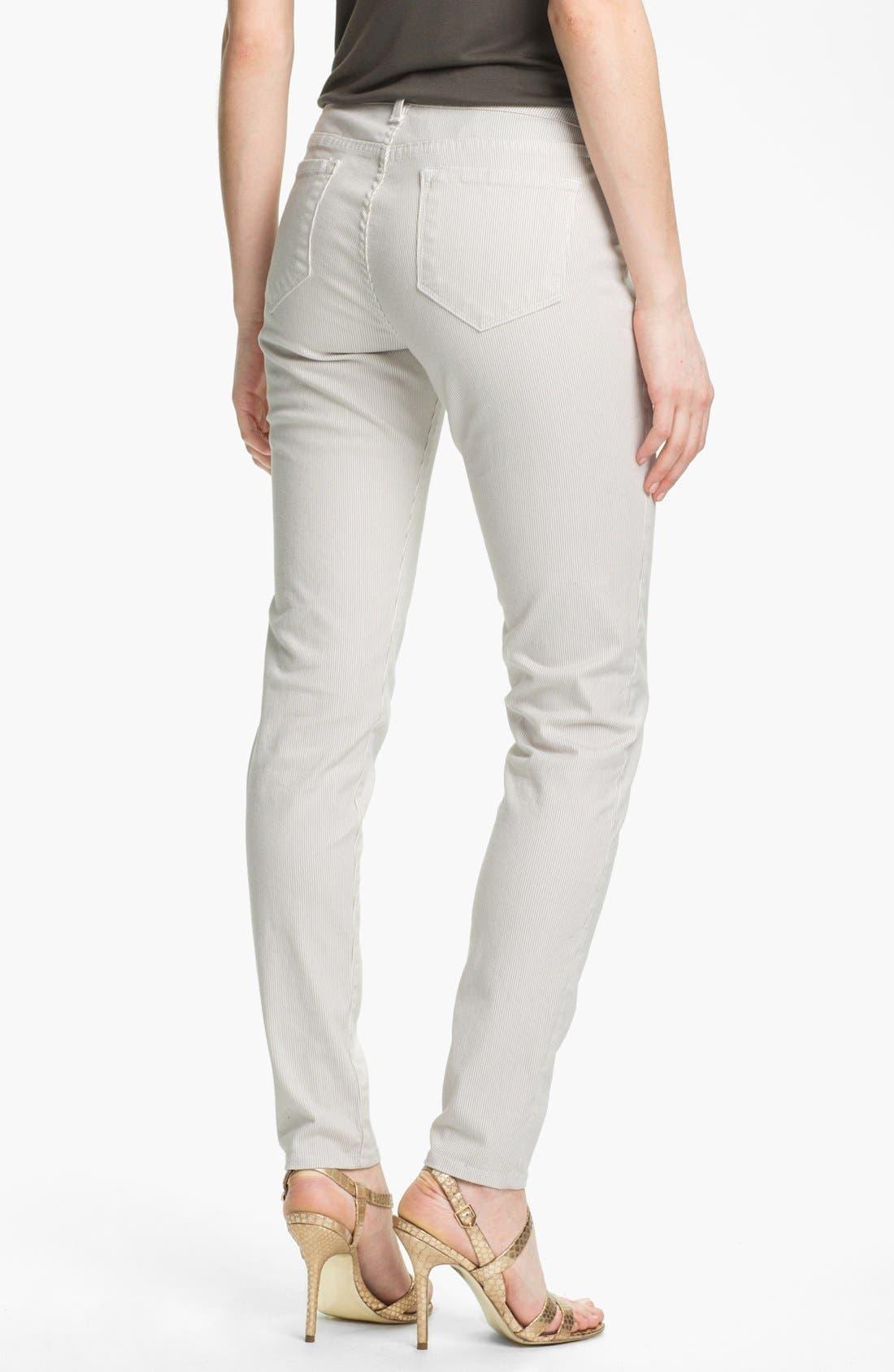 Alternate Image 2  - Blue Essence Railroad Stripe Skinny Jeans