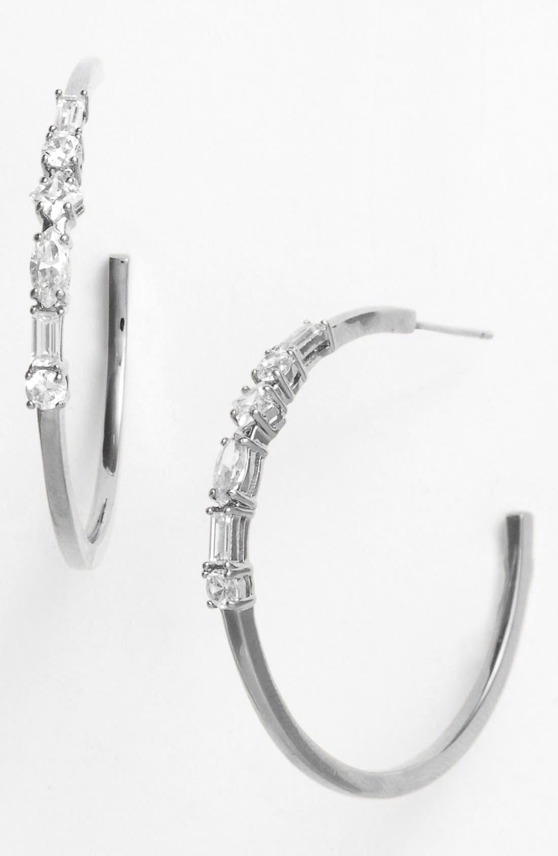 Alternate Image 1 Selected - Nadri Mixed Cut Hoop Earrings (Nordstrom Exclusive)