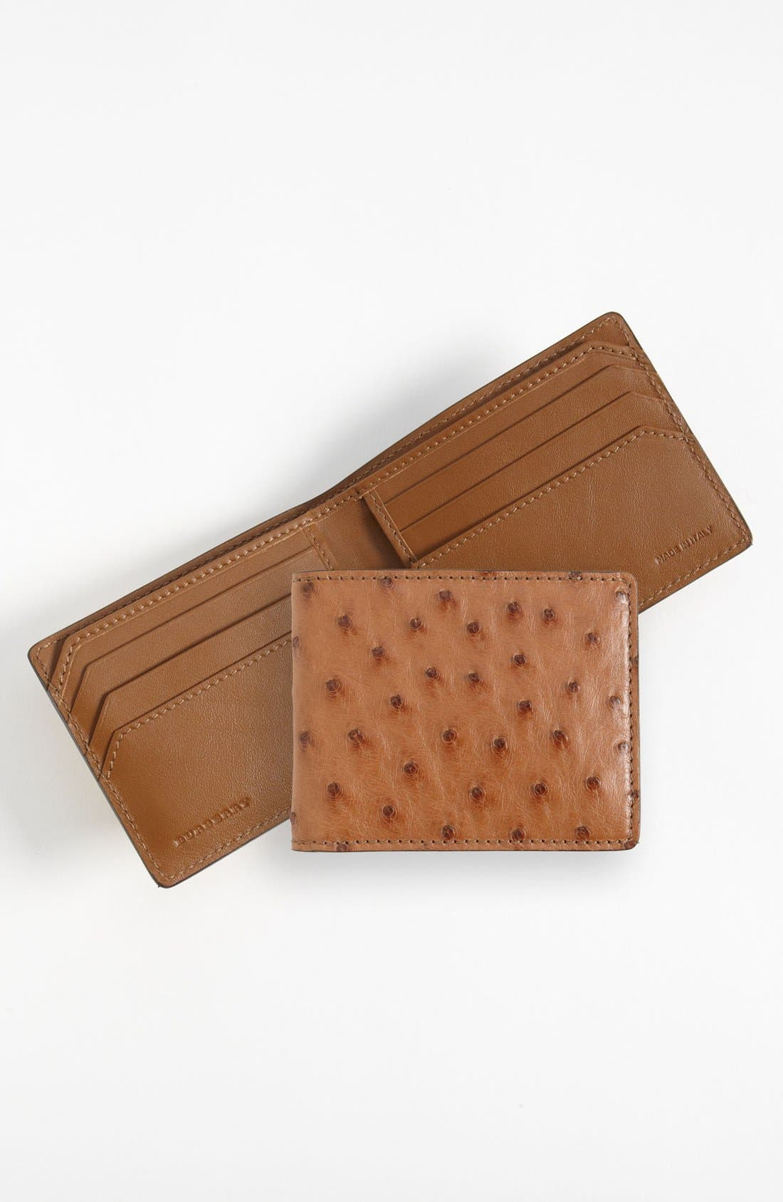 Main Image - Burberry Ostrich Leather Wallet