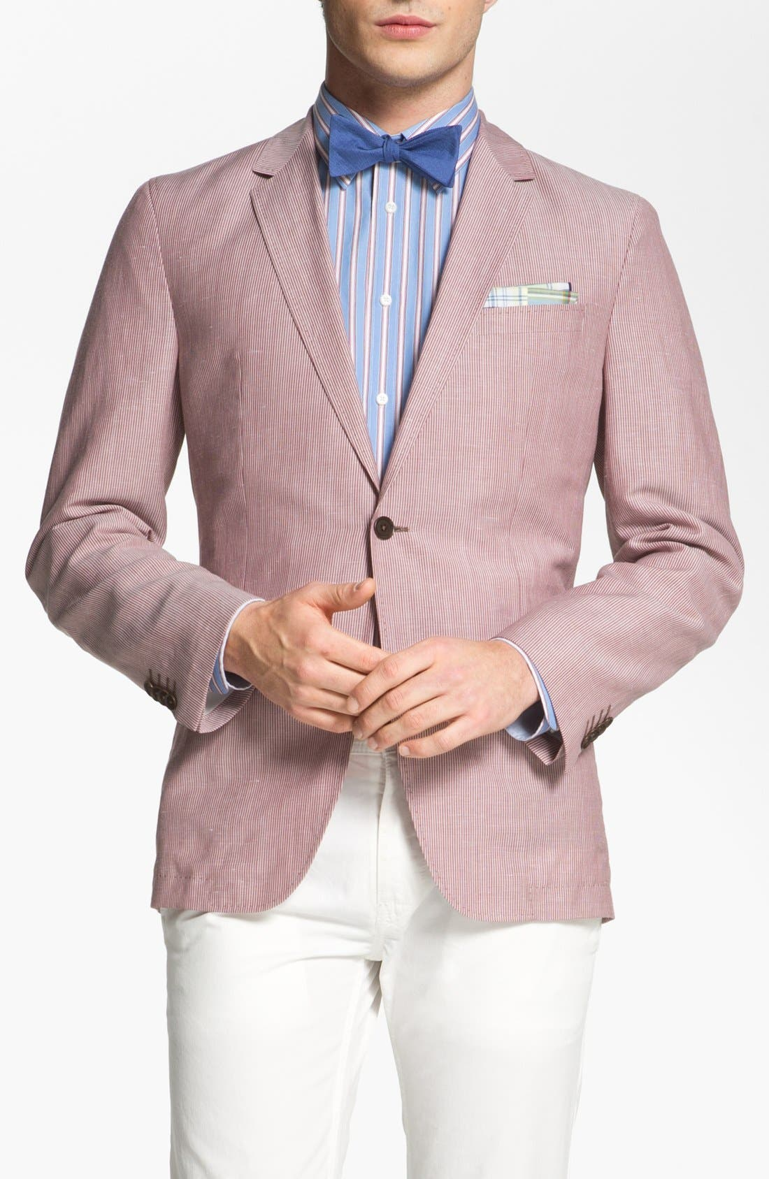 Alternate Image 1 Selected - BOSS HUGO BOSS 'Miles' Trim Fit Stripe Sportcoat