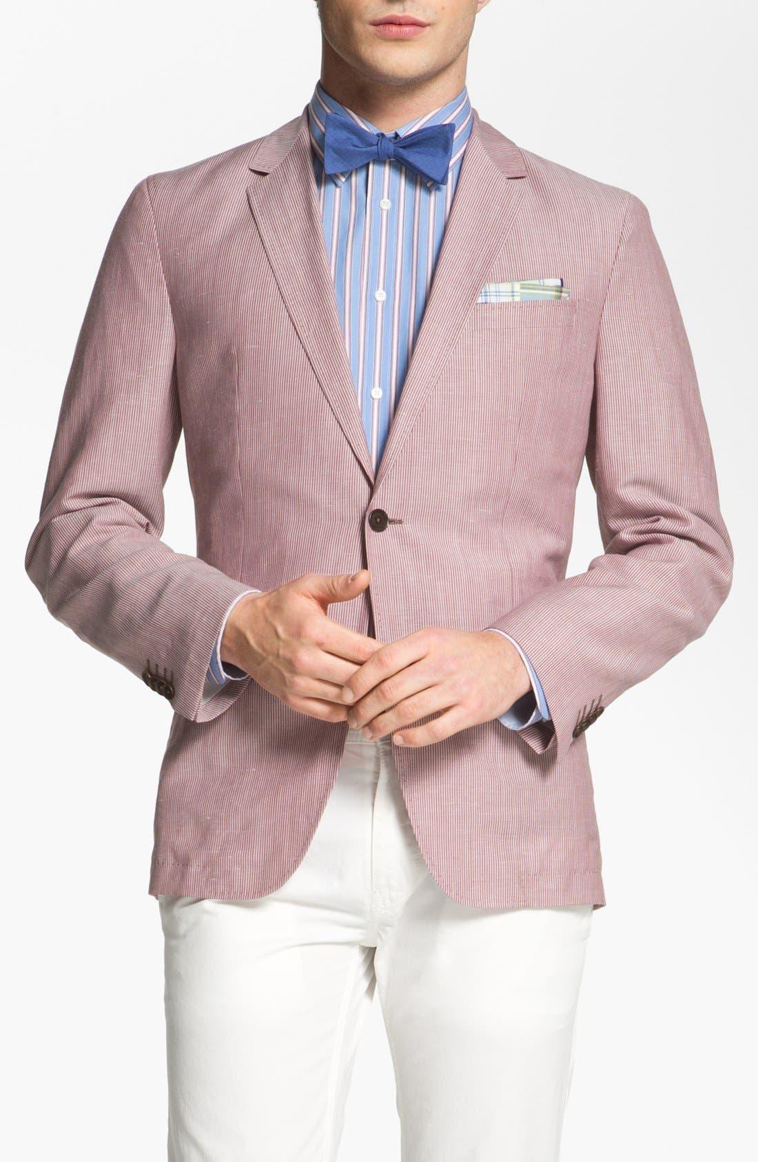 Main Image - BOSS HUGO BOSS 'Miles' Trim Fit Stripe Sportcoat