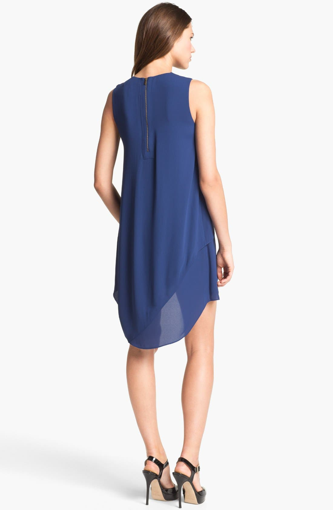 Alternate Image 2  - BCBGMAXAZRIA Ruffle Chiffon Dress