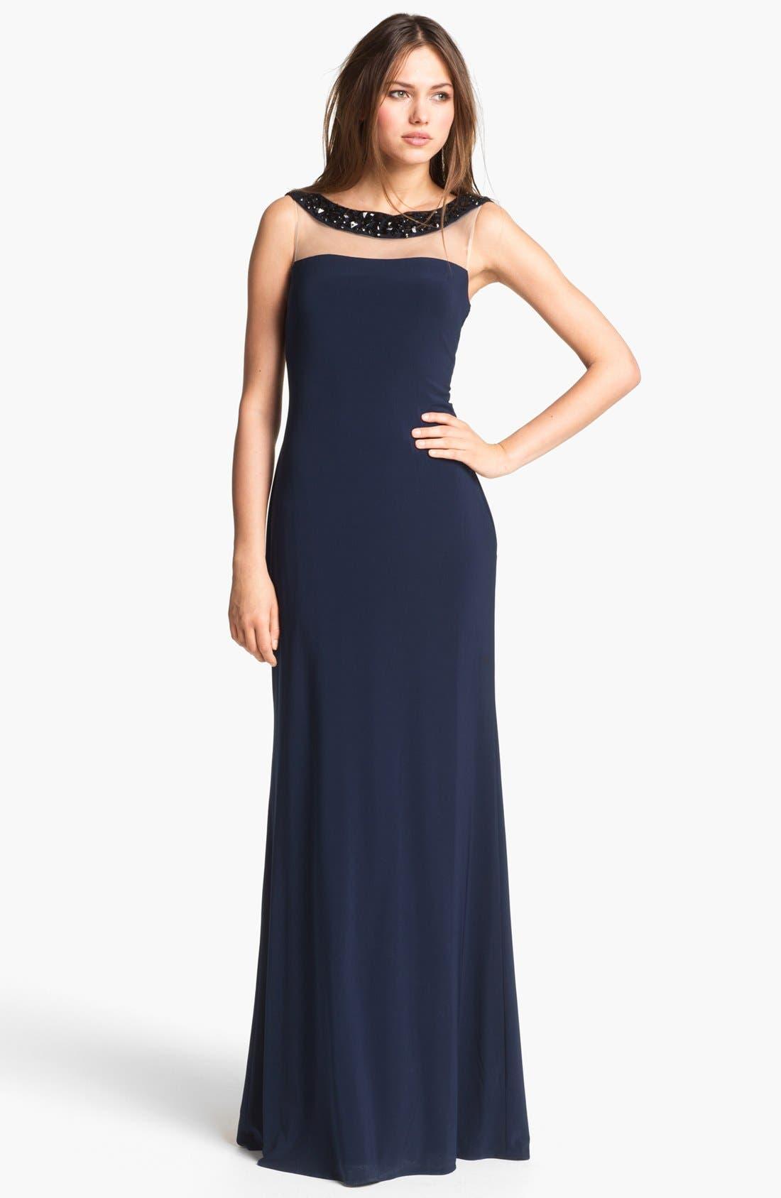 Alternate Image 1  - Kathy Hilton Embellished Column Gown