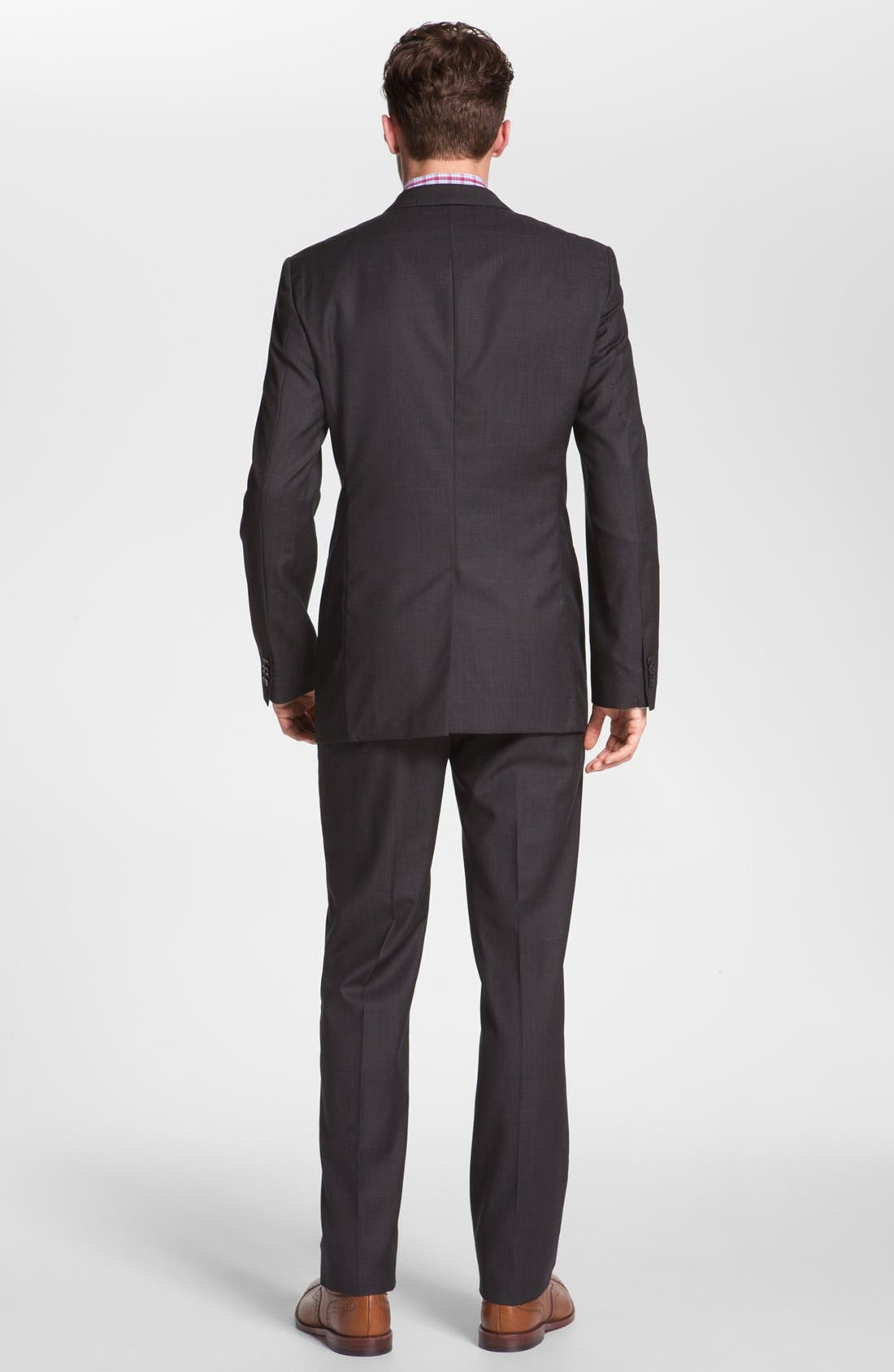 Alternate Image 2  - BOSS 'Jam/Sharp' Trim Fit Dark Grey Suit