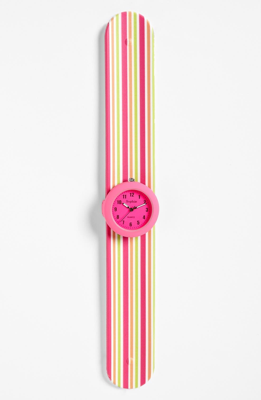Alternate Image 1 Selected - Titanium Stripe Slap Watch (Girls)