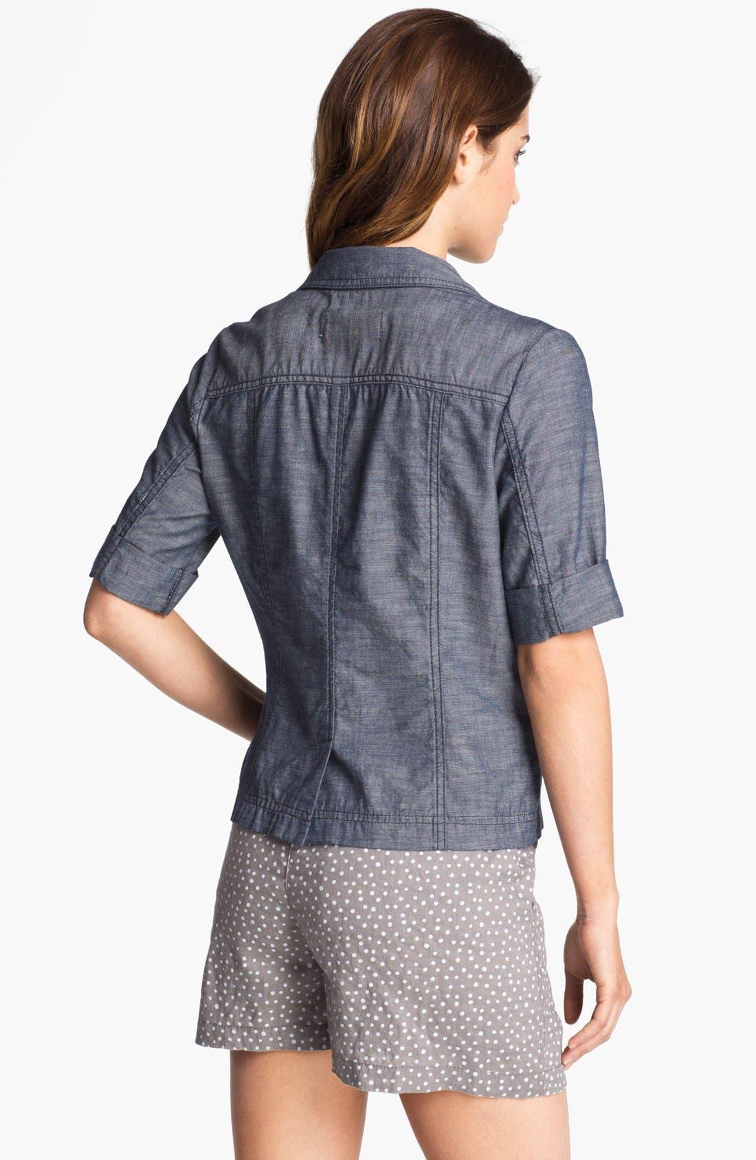 Alternate Image 2  - Caslon® Cuffed Elbow Sleeve Jacket
