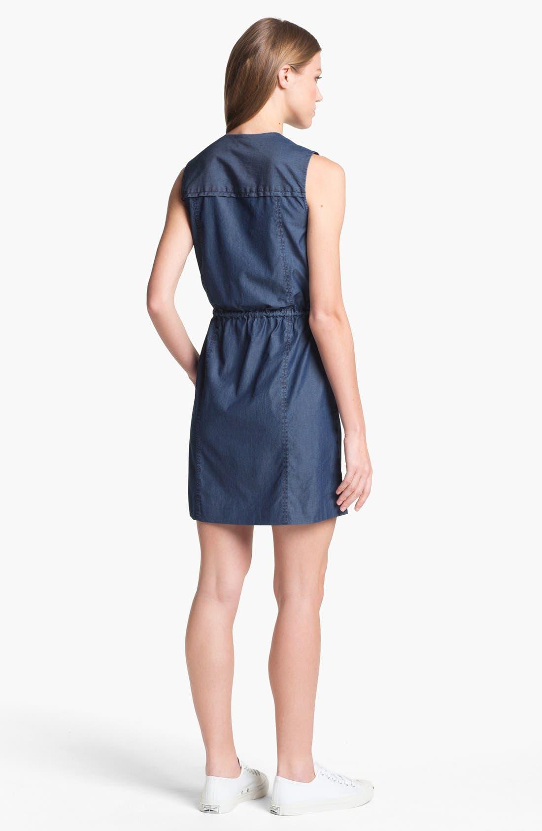 Alternate Image 2  - Theory 'Sebiya' Cotton Blouson Dress