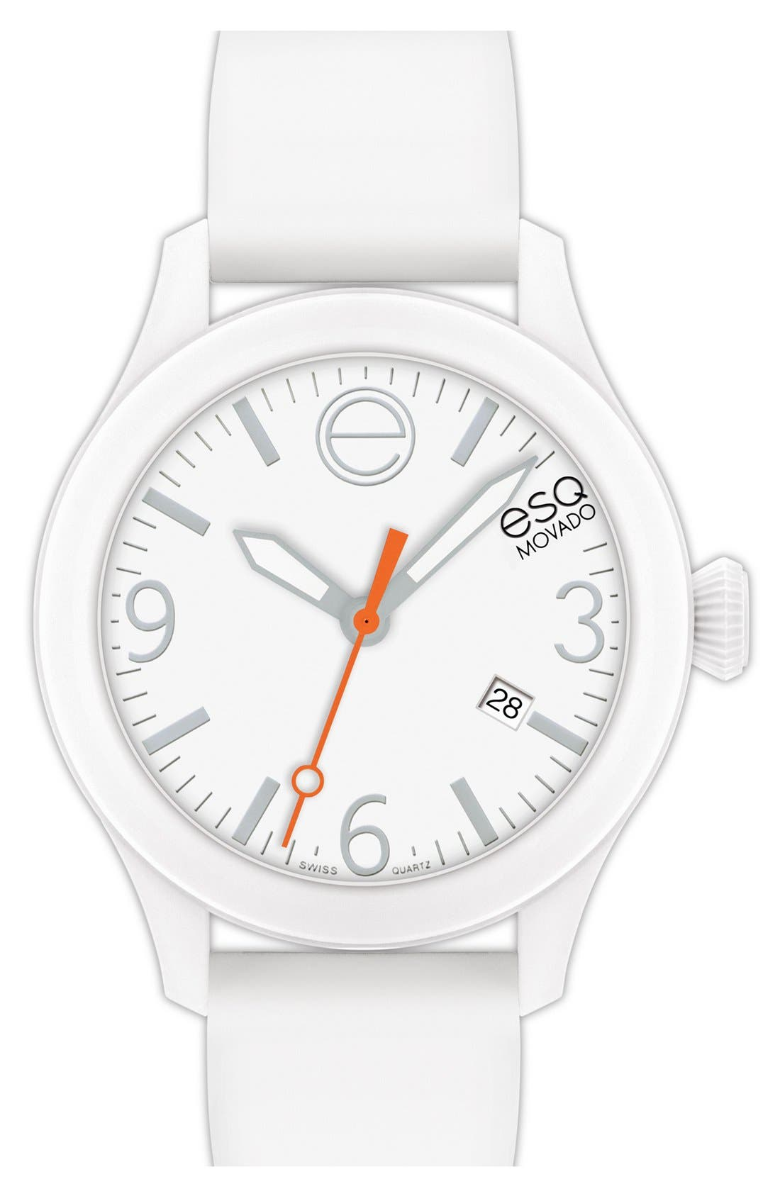 Alternate Image 1 Selected - ESQ Movado 'One' Silicone Strap Watch, 42mm