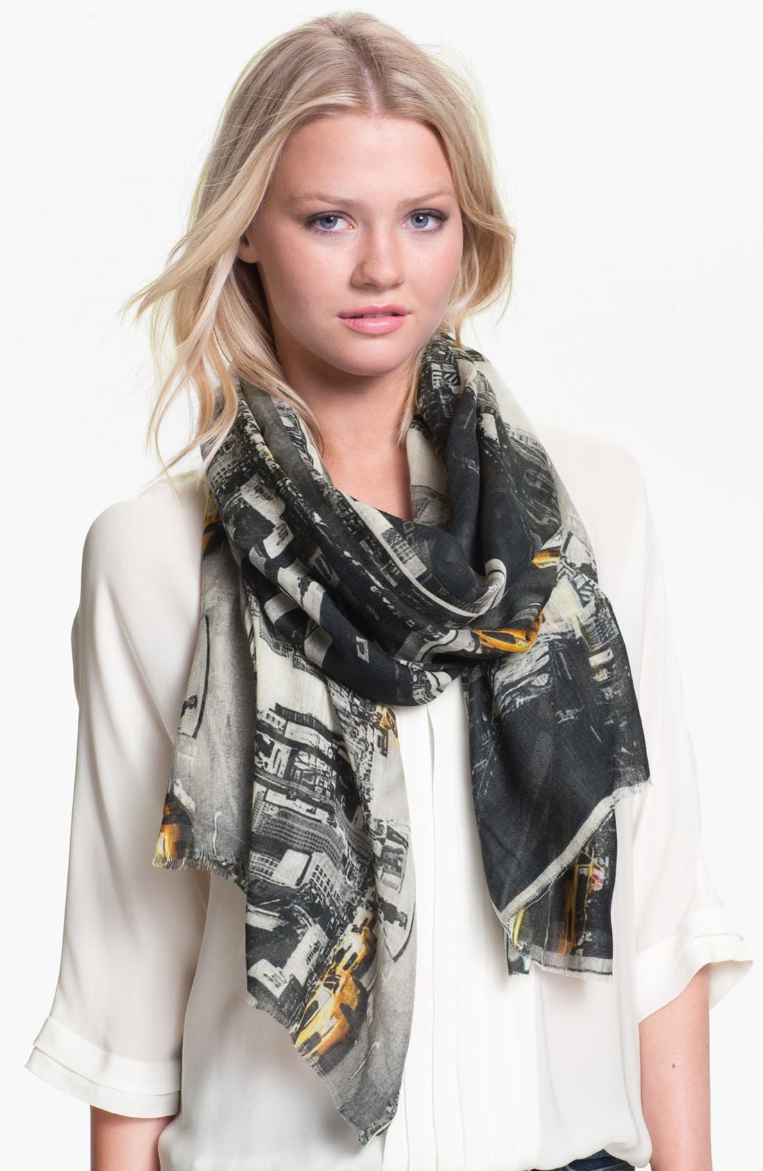 Main Image - Shawlux 'NYC Times Square Taxi' Cashmere & Silk Scarf