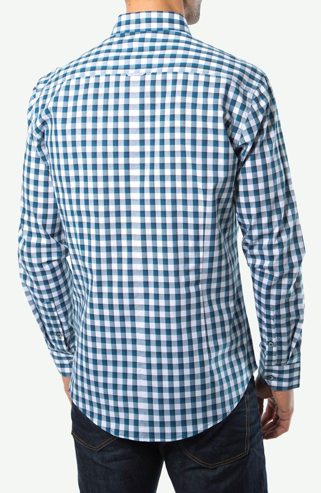 Alternate Image 3  - 7 Diamonds 'I Will Wait' Gingham Sport Shirt