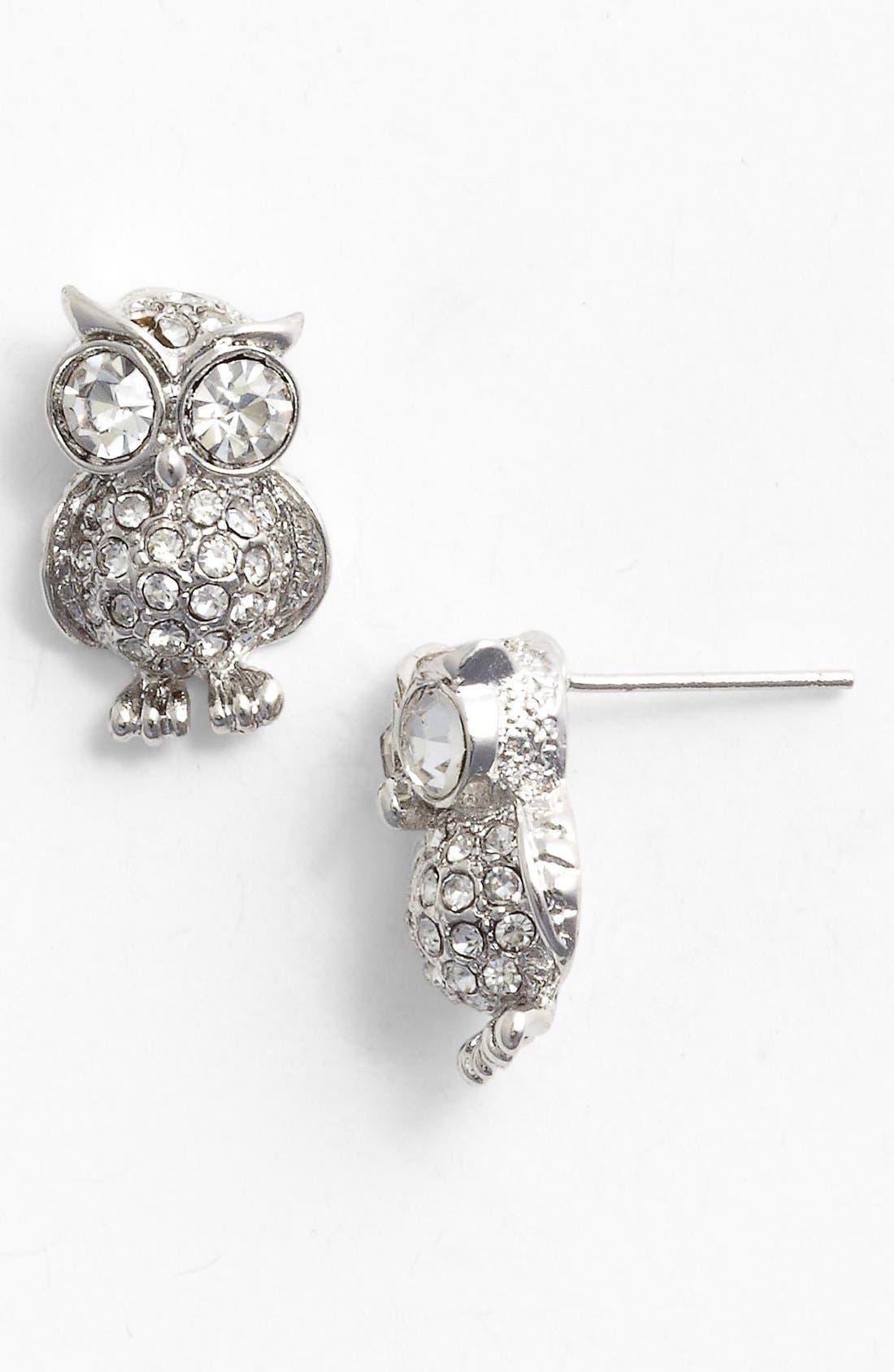 Main Image - Cara Owl Stud Earrings