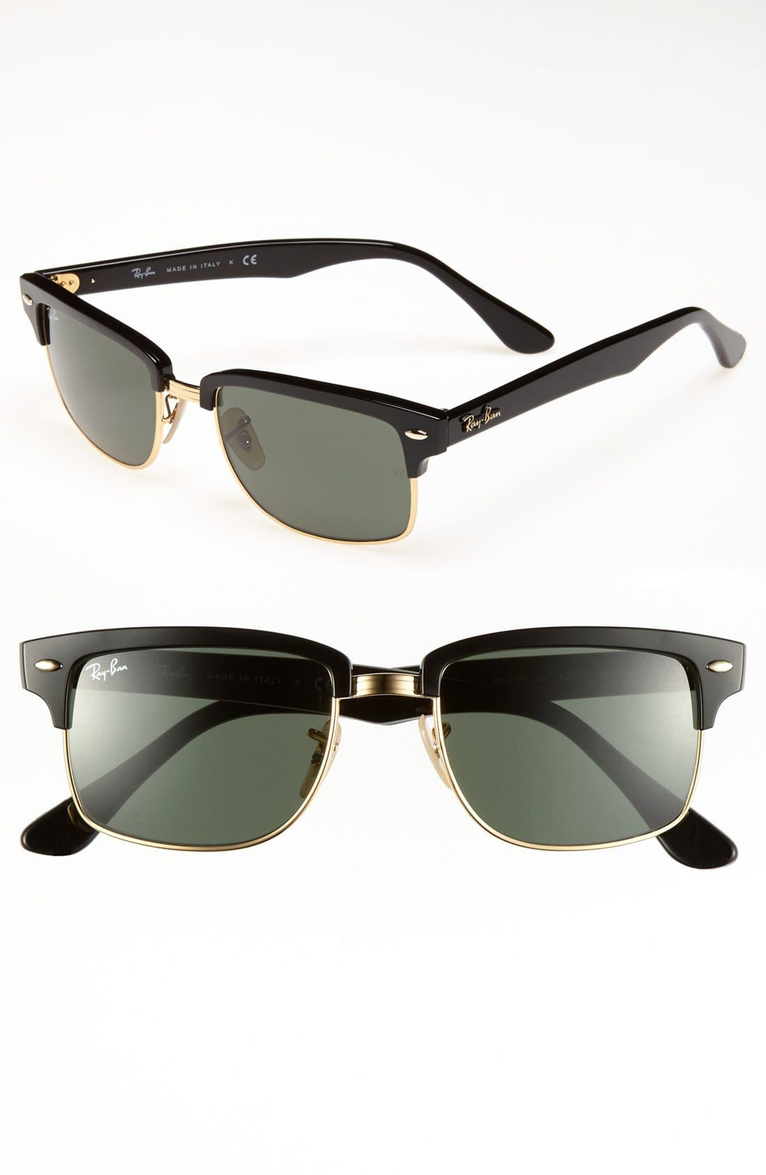Main Image - Ray-Ban 'Clubmaster' 52mm Sunglasses