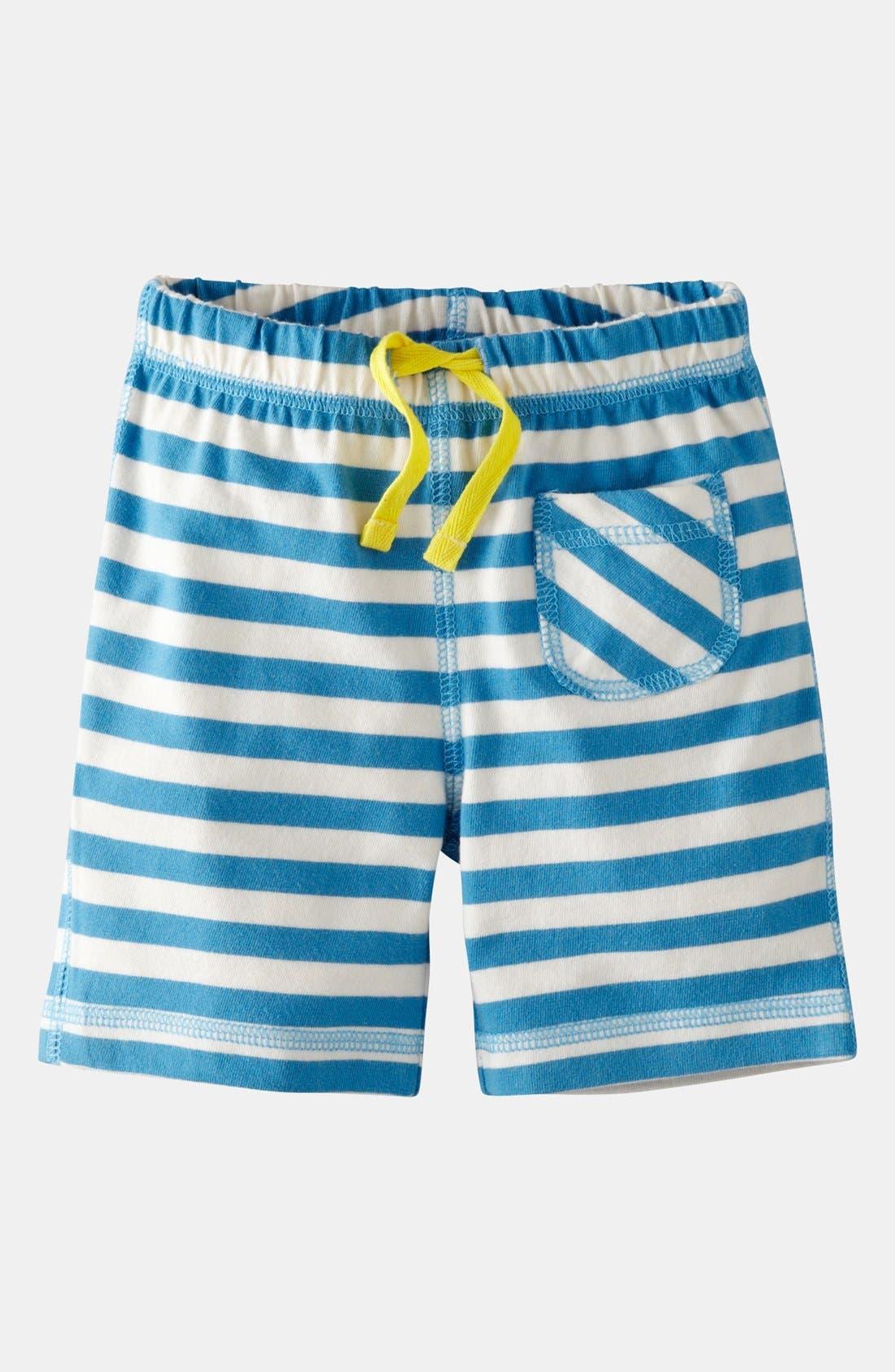 Main Image - Mini Boden Jersey Shorts (Baby)