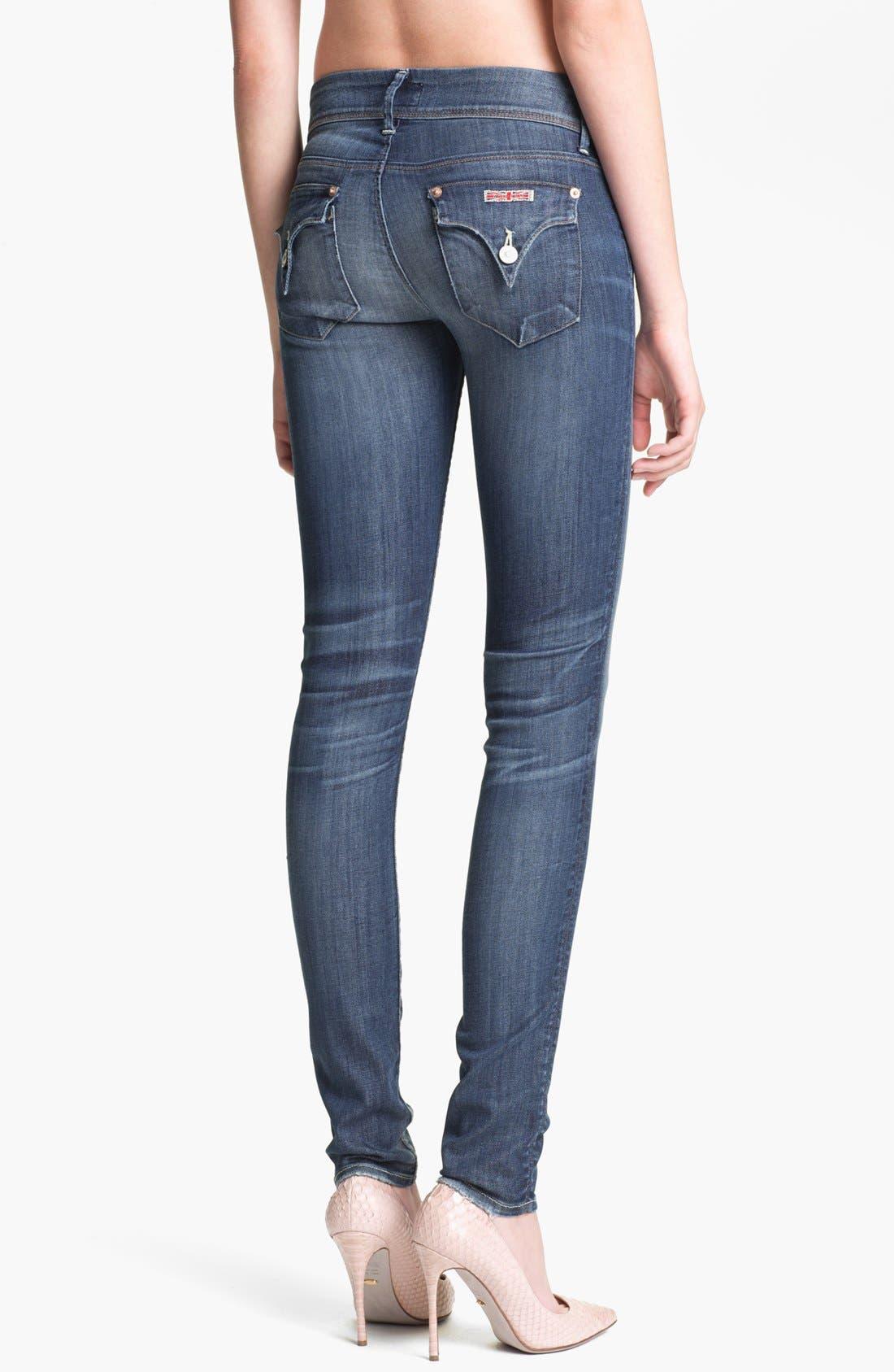 Alternate Image 2  - Hudson Jeans 'Collin' Distressed Skinny Stretch Jeans (Youth Vintage)