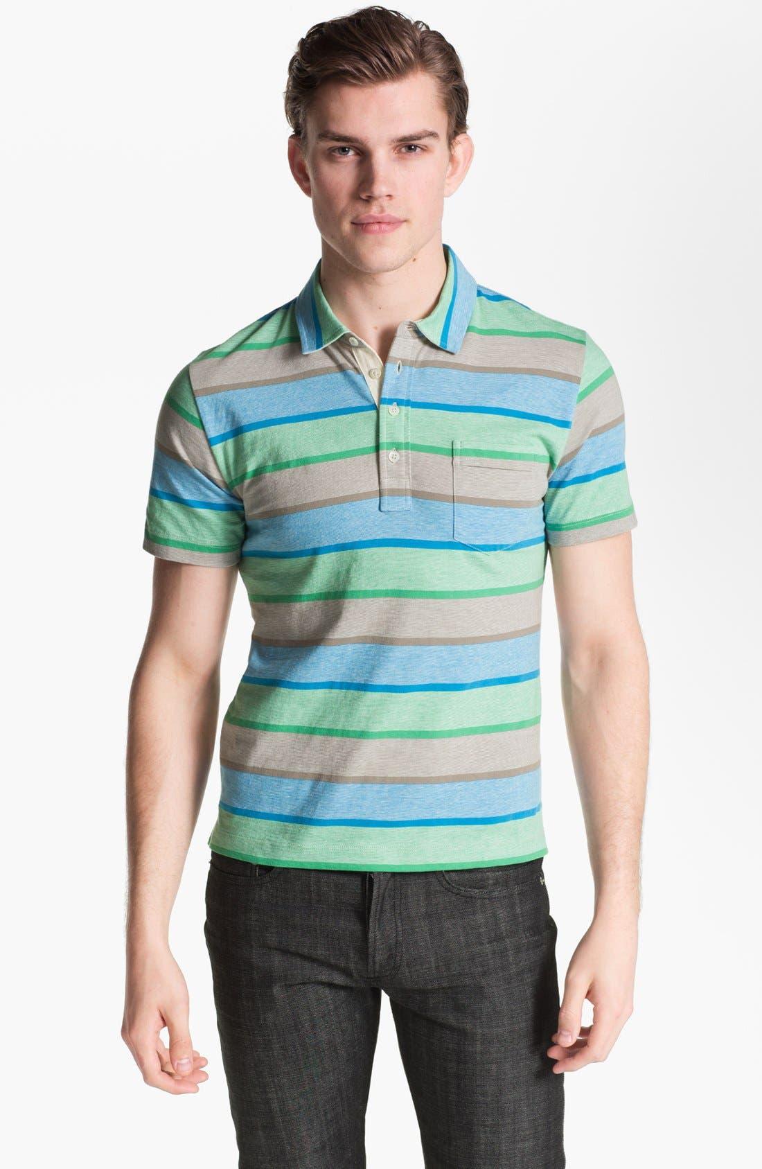 Main Image - Billy Reid 'Pensacola' Trim Fit Stripe Polo