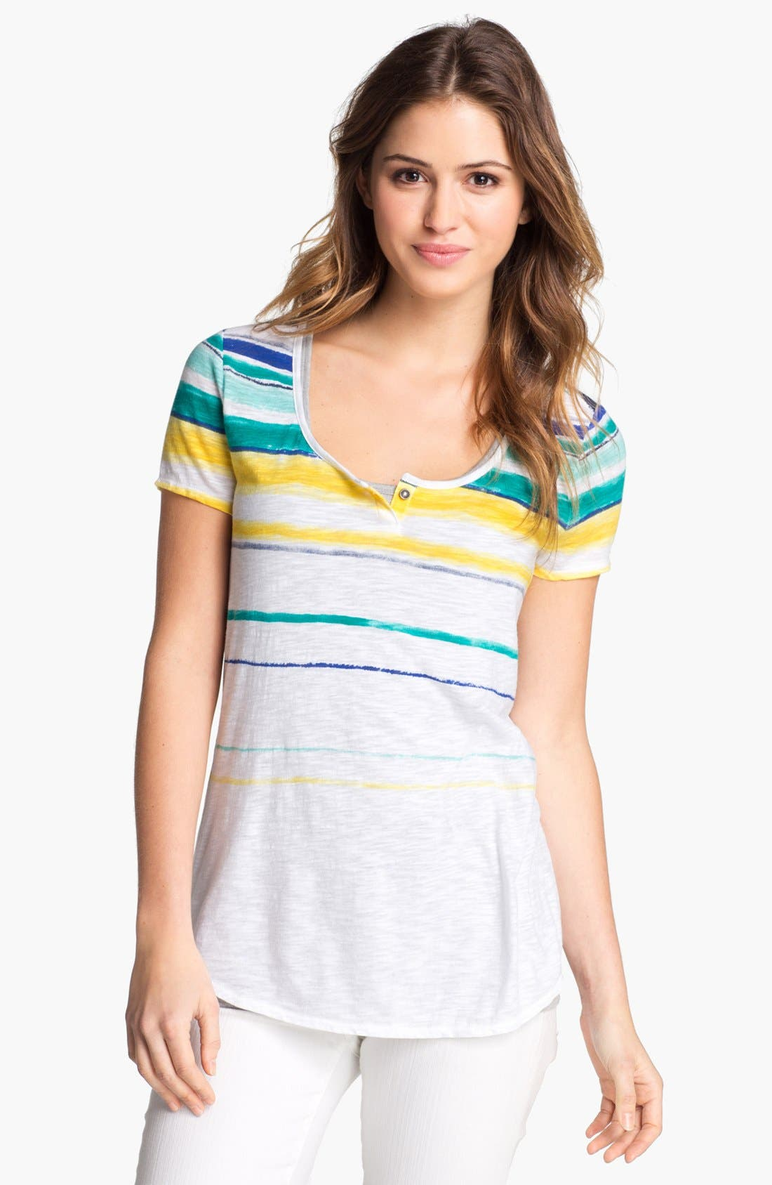 Alternate Image 1 Selected - Lucky Brand 'Charleigh' Stripe Tee