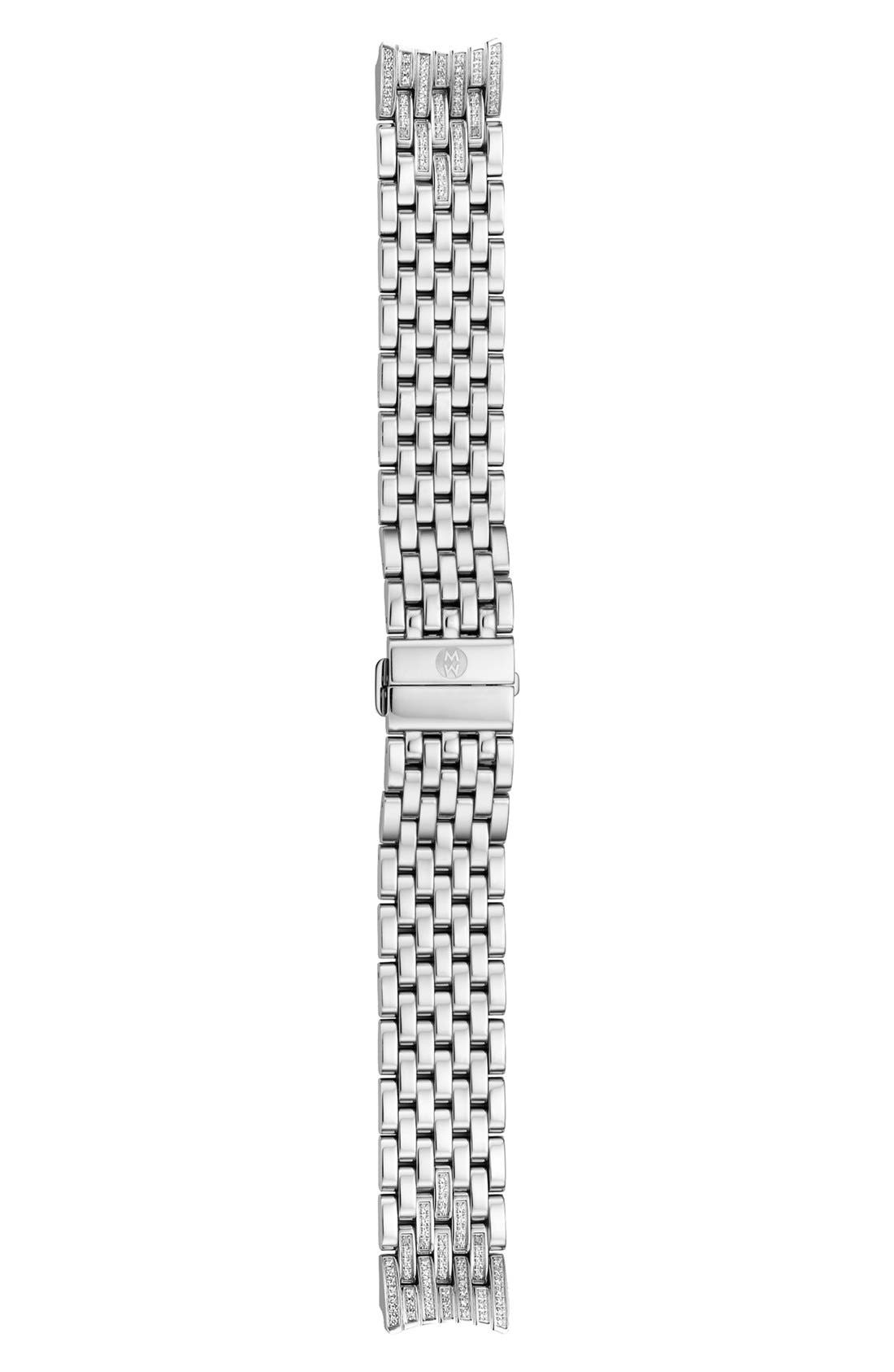 Alternate Image 1 Selected - MICHELE 'Serein' 18mm Diamond Bracelet Watch Band