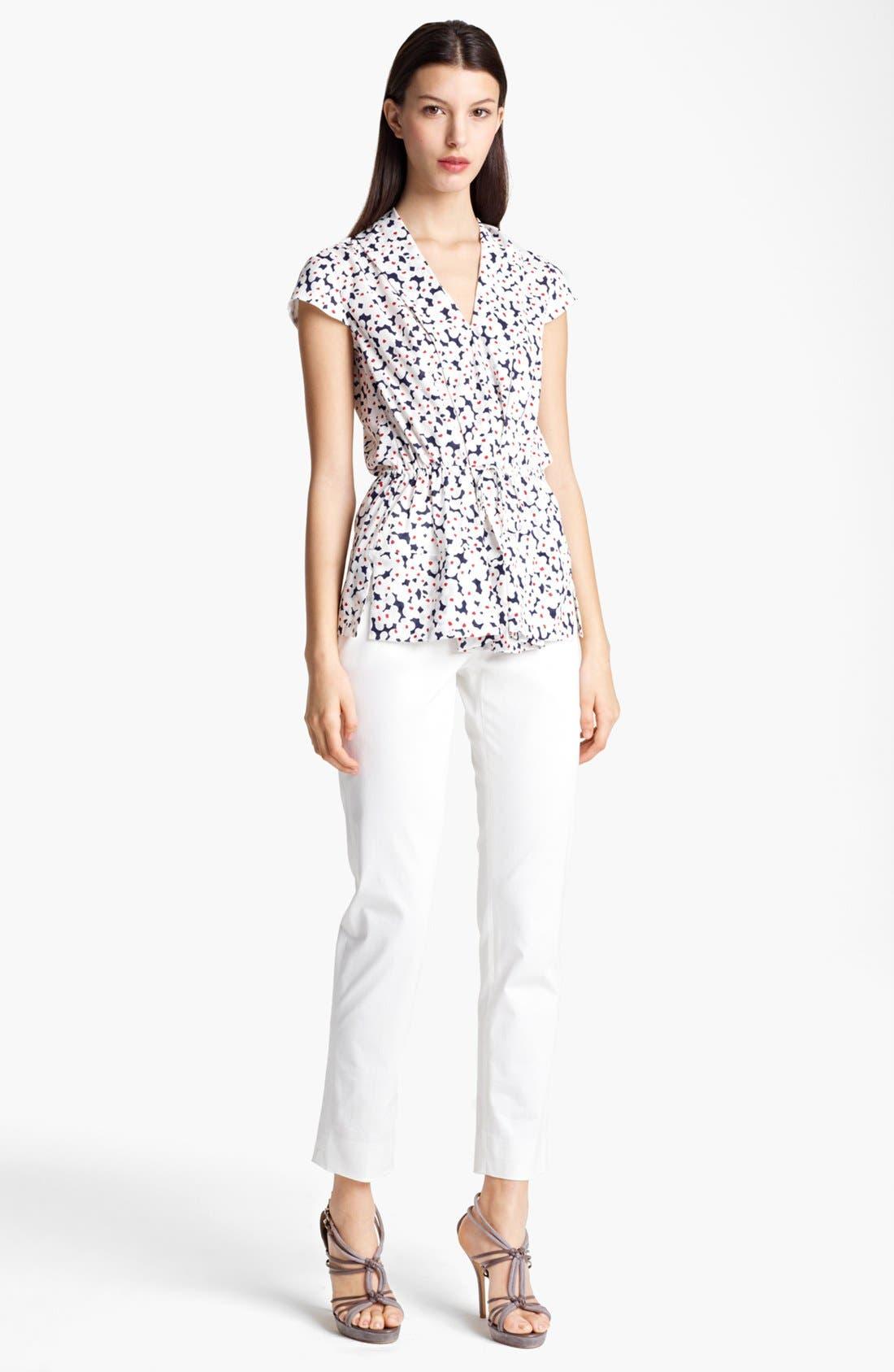 Alternate Image 3  - Armani Collezioni Slim Stretch Cotton Pants