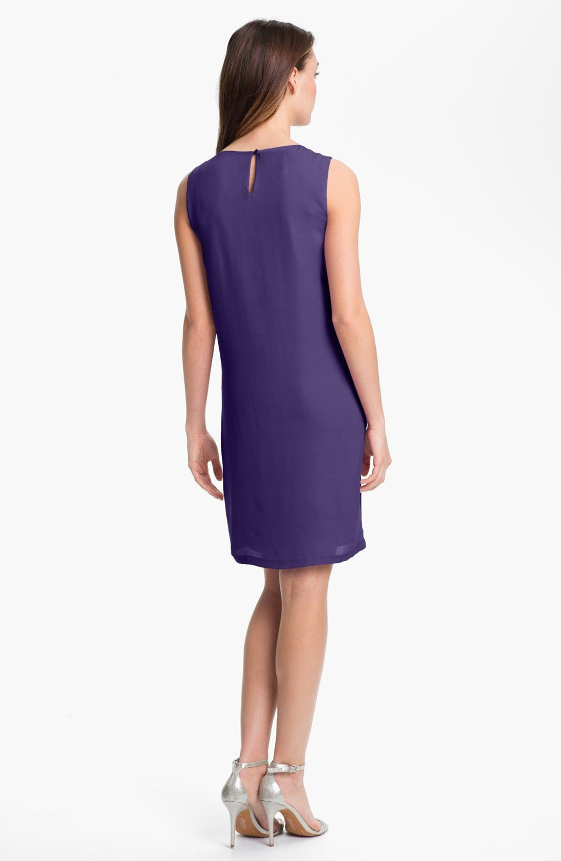 Alternate Image 2  - Suzi Chin for Maggy Boutique Tiered Silk Sheath Dress