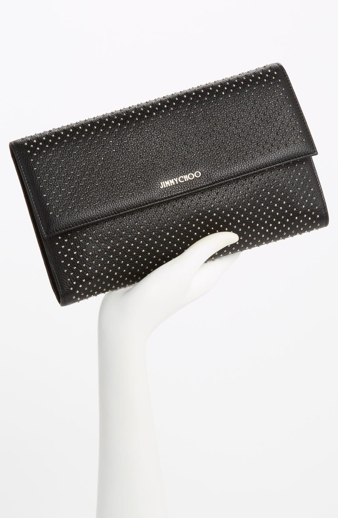 Alternate Image 2  - Jimmy Choo 'Reese - XL' Studded Leather Clutch