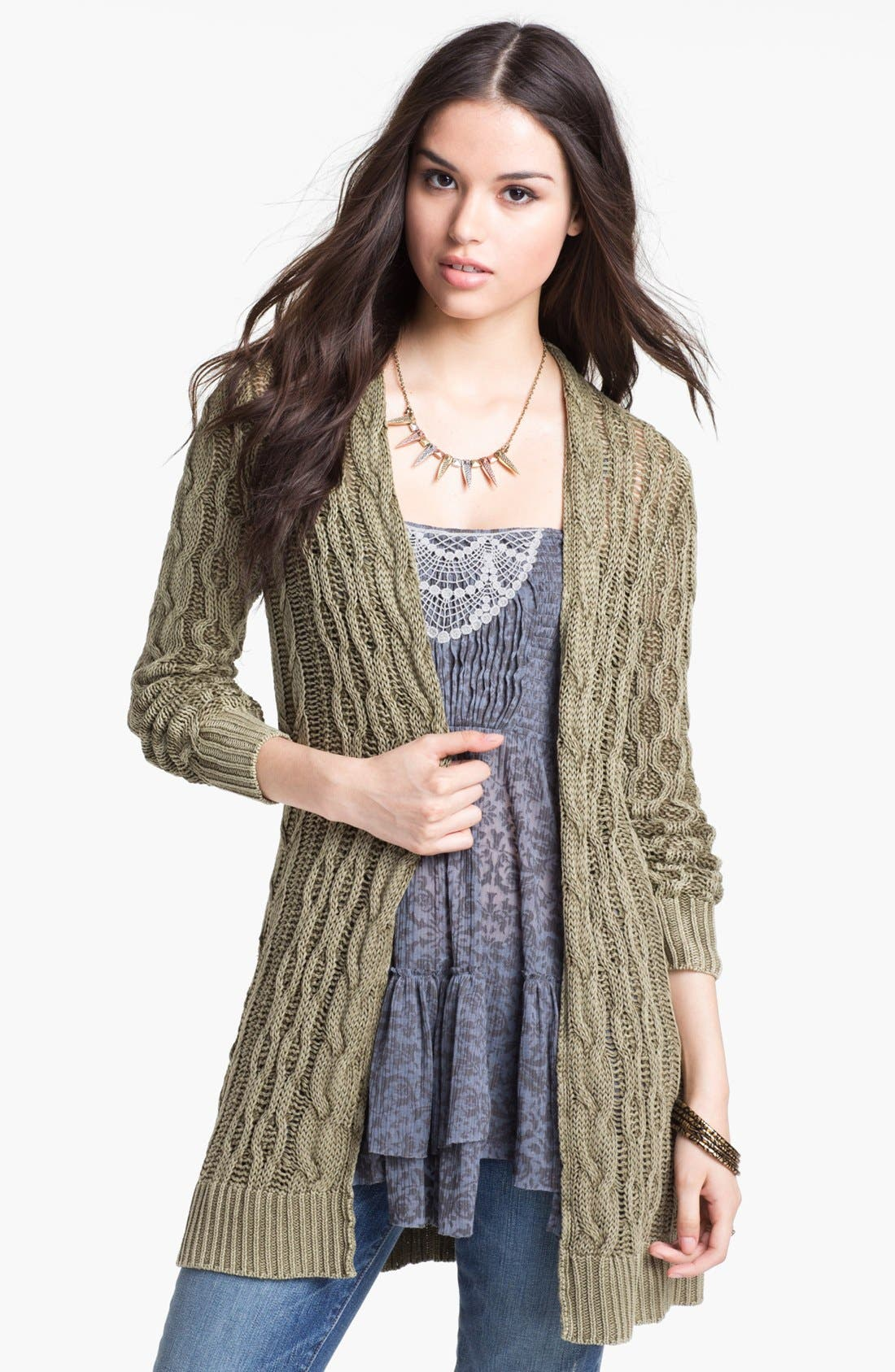 Main Image - Free People 'Rip Tide' Cable Cardigan