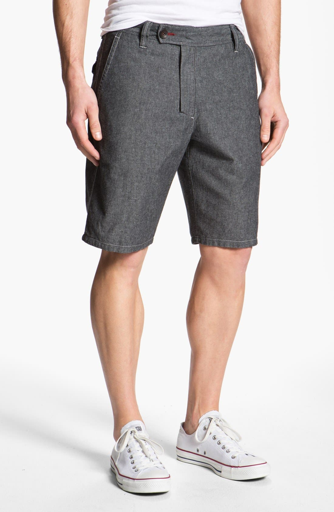 Alternate Image 1 Selected - Howe Reversible Chambray Shorts