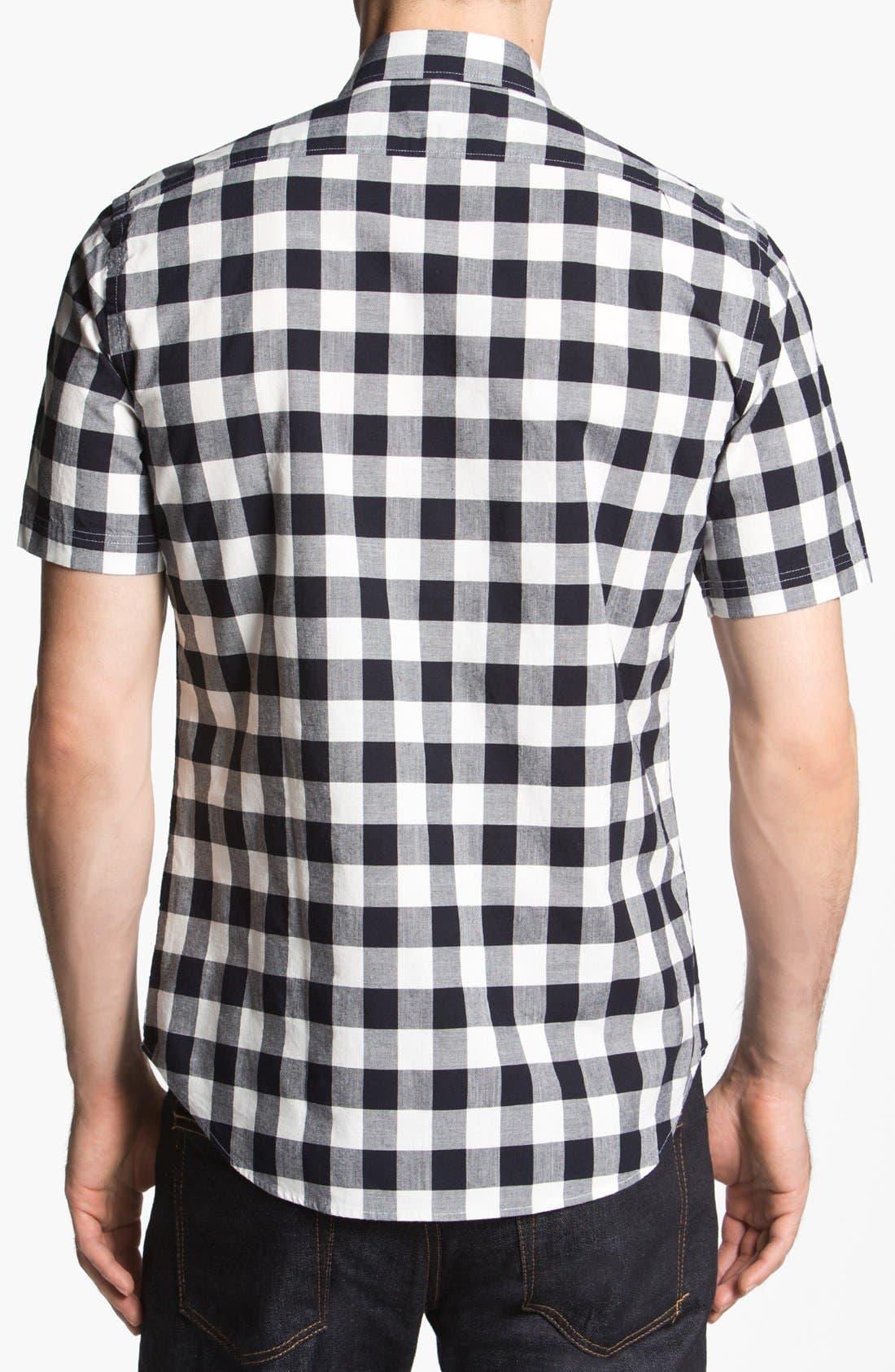 Alternate Image 2  - Burberry Brit 'Henry' Short Sleeve Trim Fit Sport Shirt