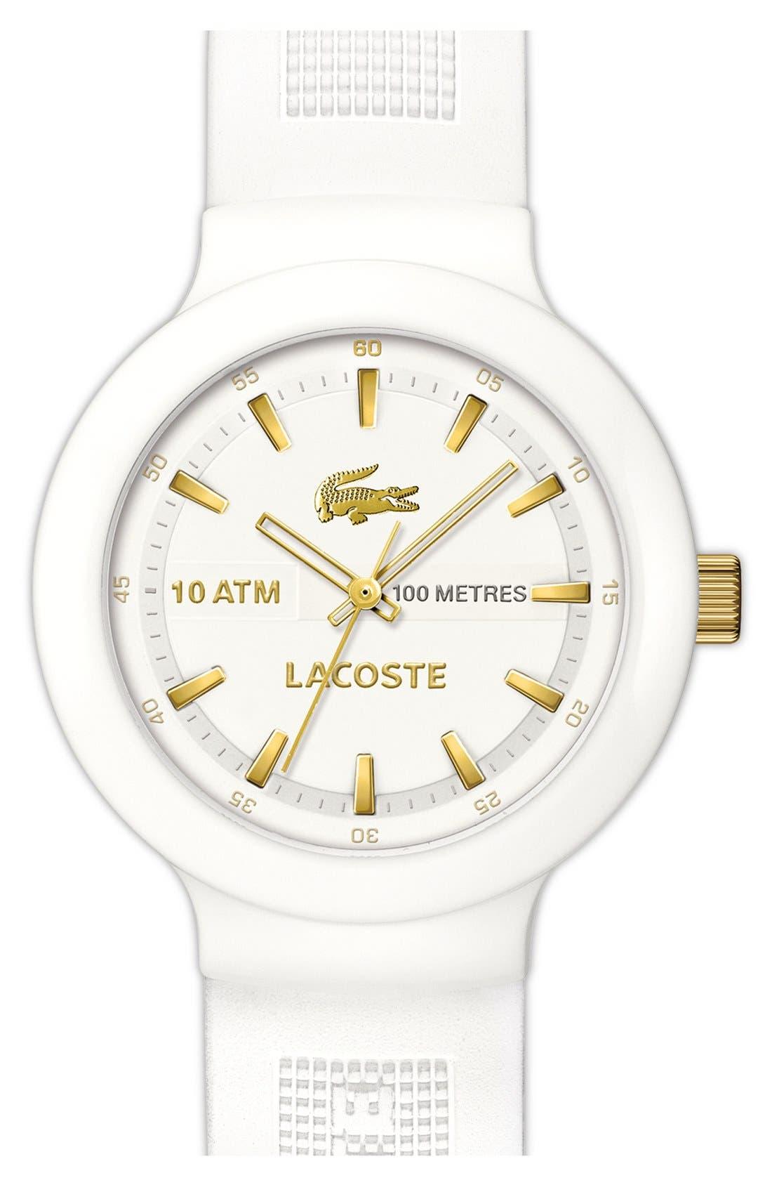 Alternate Image 1 Selected - Lacoste 'Boreno' Silicone Strap Watch, 44mm