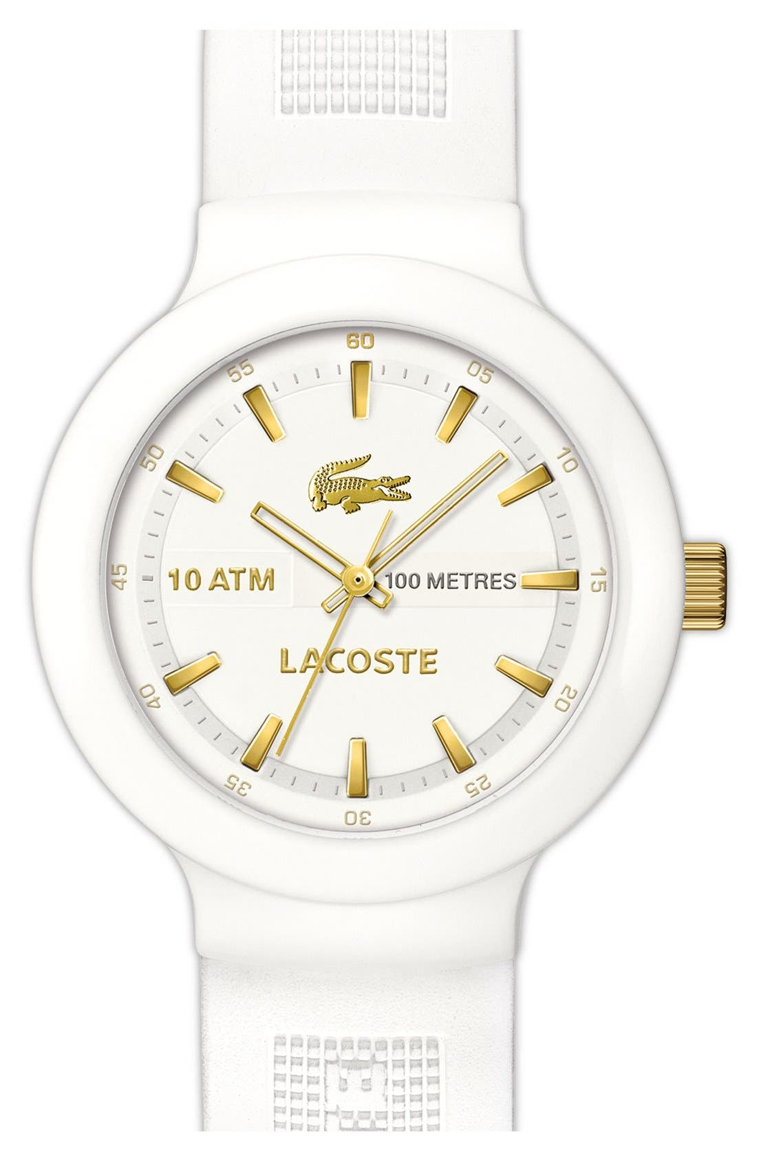 Main Image - Lacoste 'Boreno' Silicone Strap Watch, 44mm