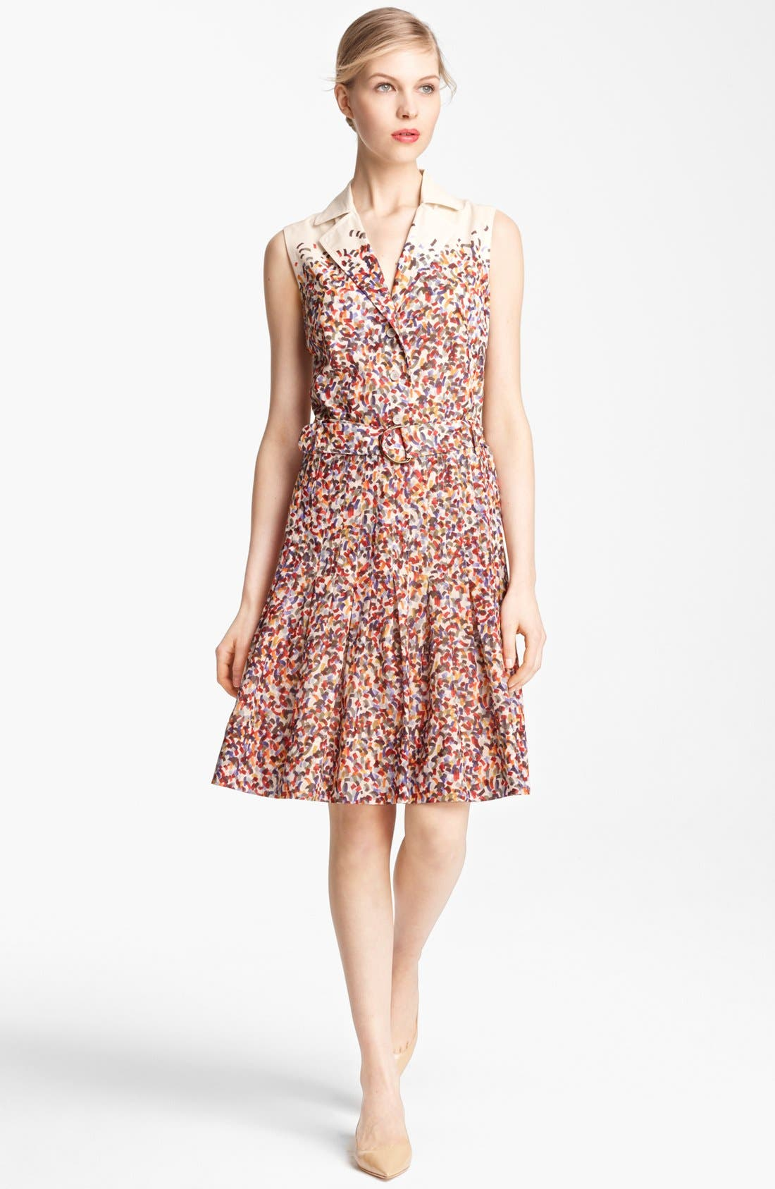 Main Image - Akris punto Confetti Print Cotton Voile Dress