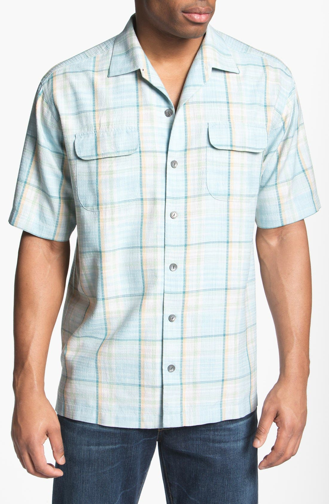 Main Image - Tommy Bahama 'Plaid Manners' Campshirt